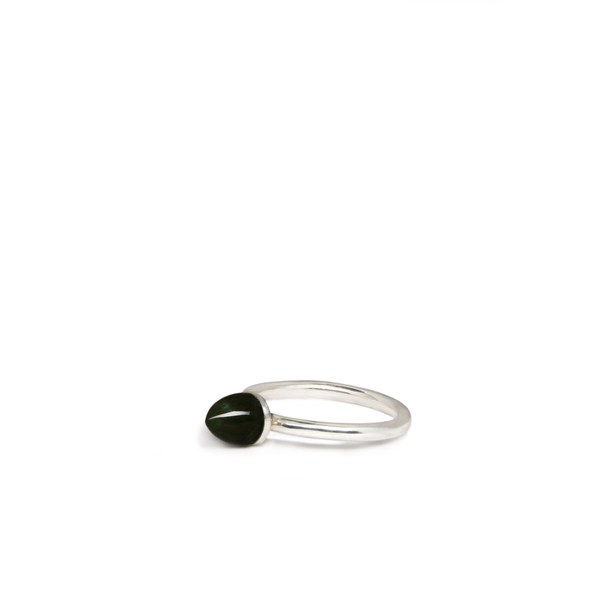 New Zealand Jade Domed Ring - Size J.5