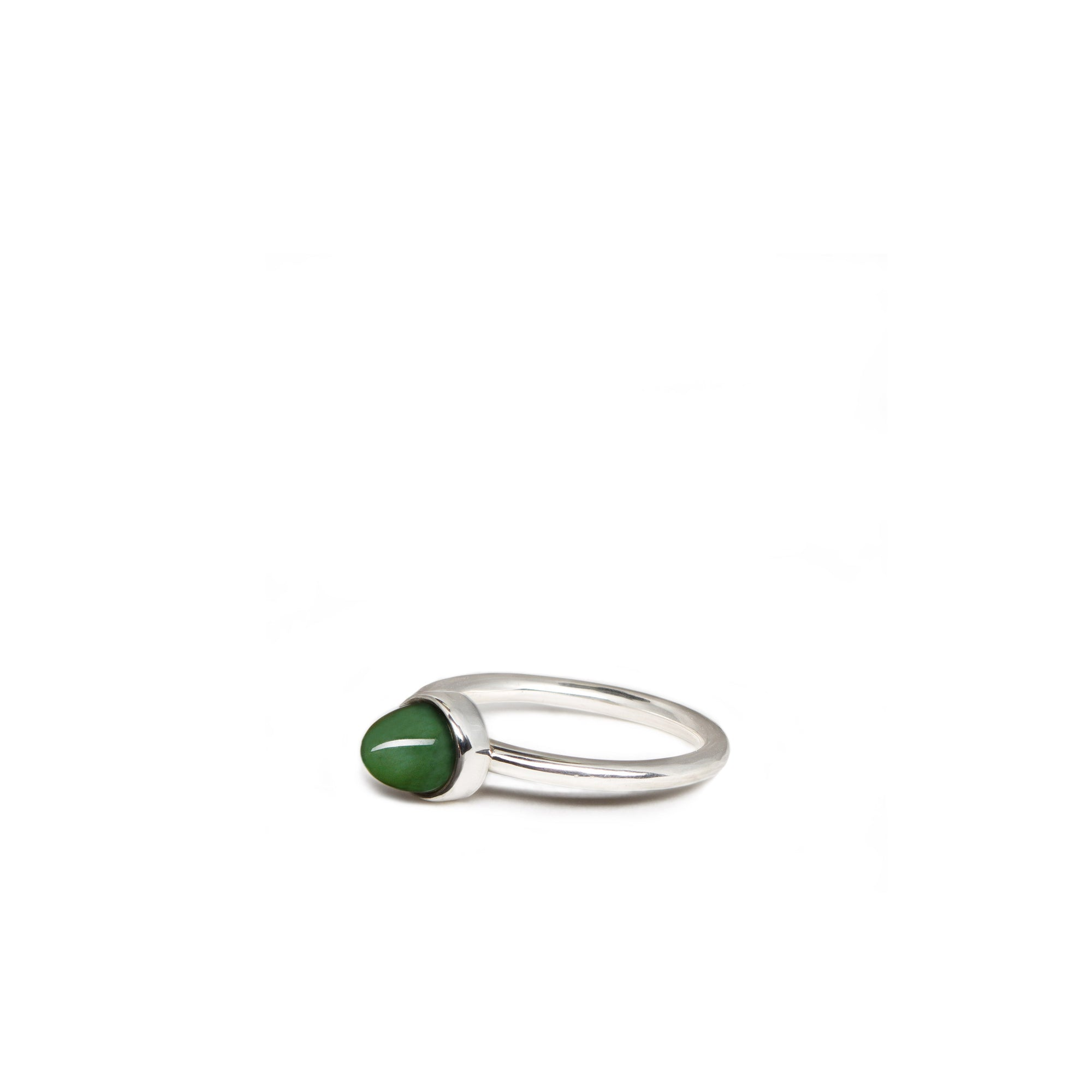 New Zealand Jade Domed Ring - Size L