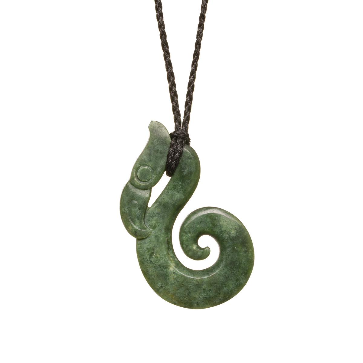 New Zealand Greenstone Manaia Hook Necklace