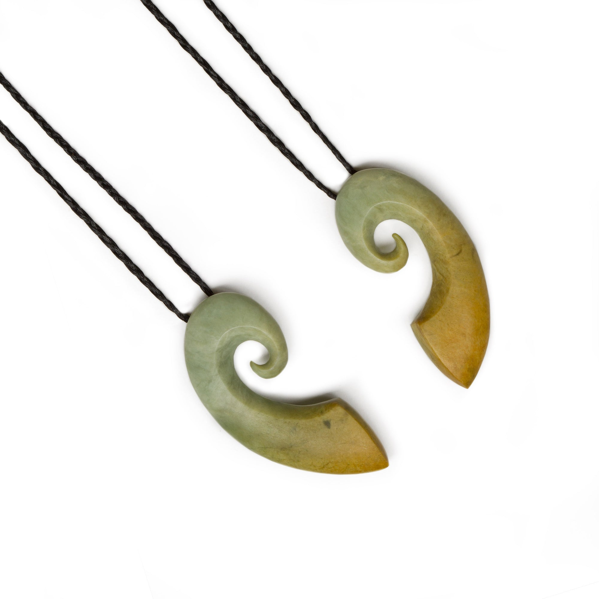 New Zealand Pounamu Same Stone Koru Set