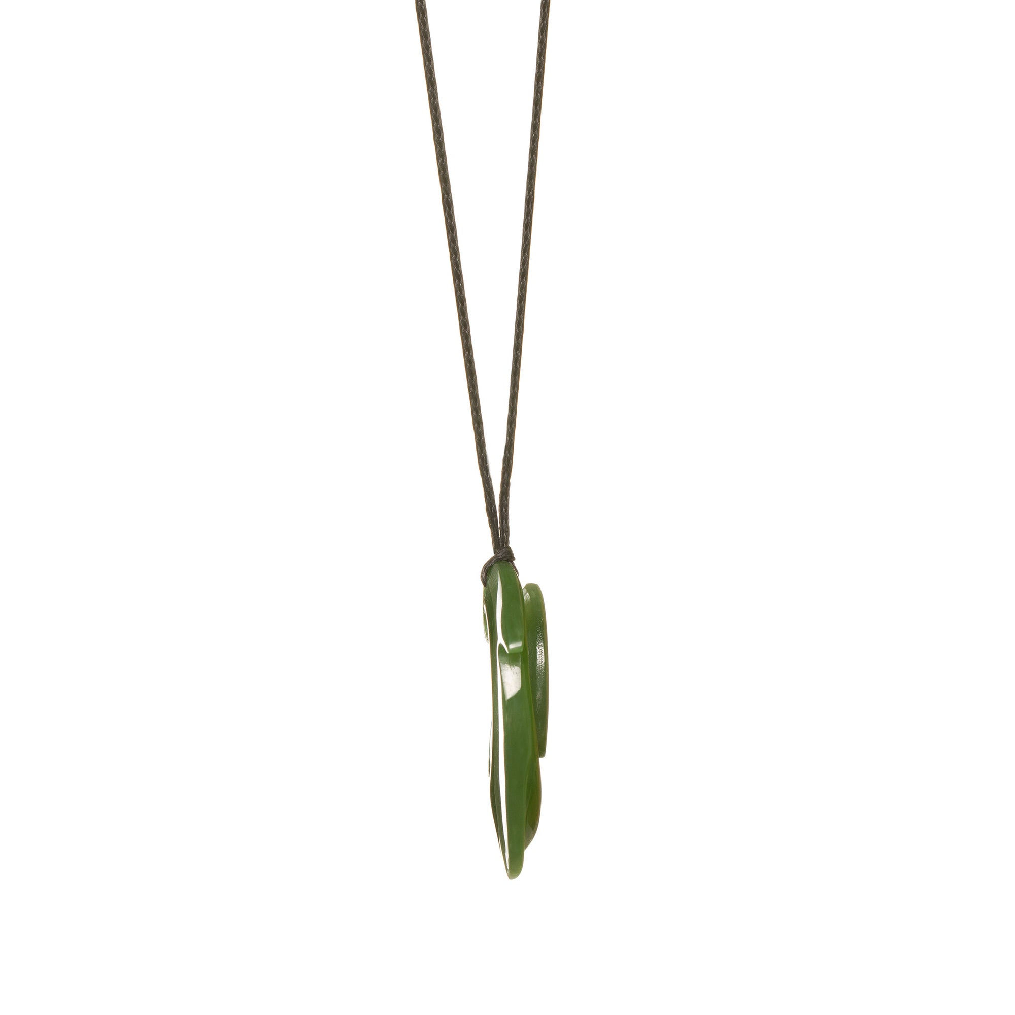 Canadian Jade Finned Fish Hook Necklace