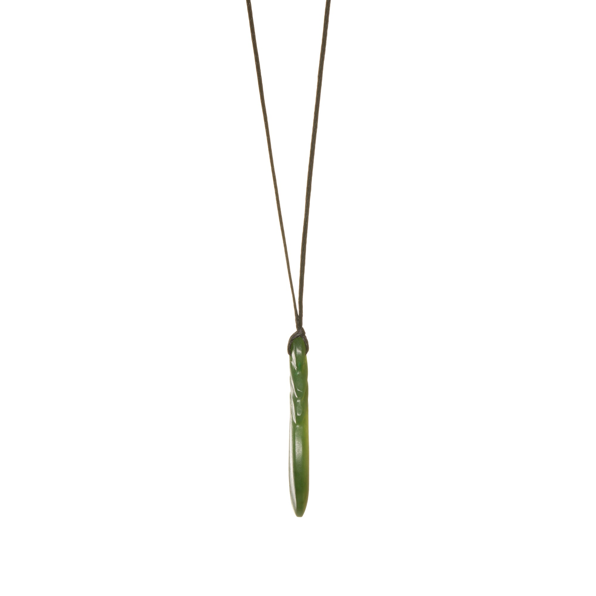 Canadian Jade Classic Matte Fish Hook Necklace