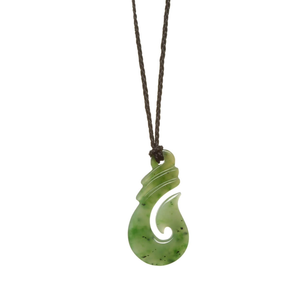 Assorted Jades Classic Fish Hook Necklace