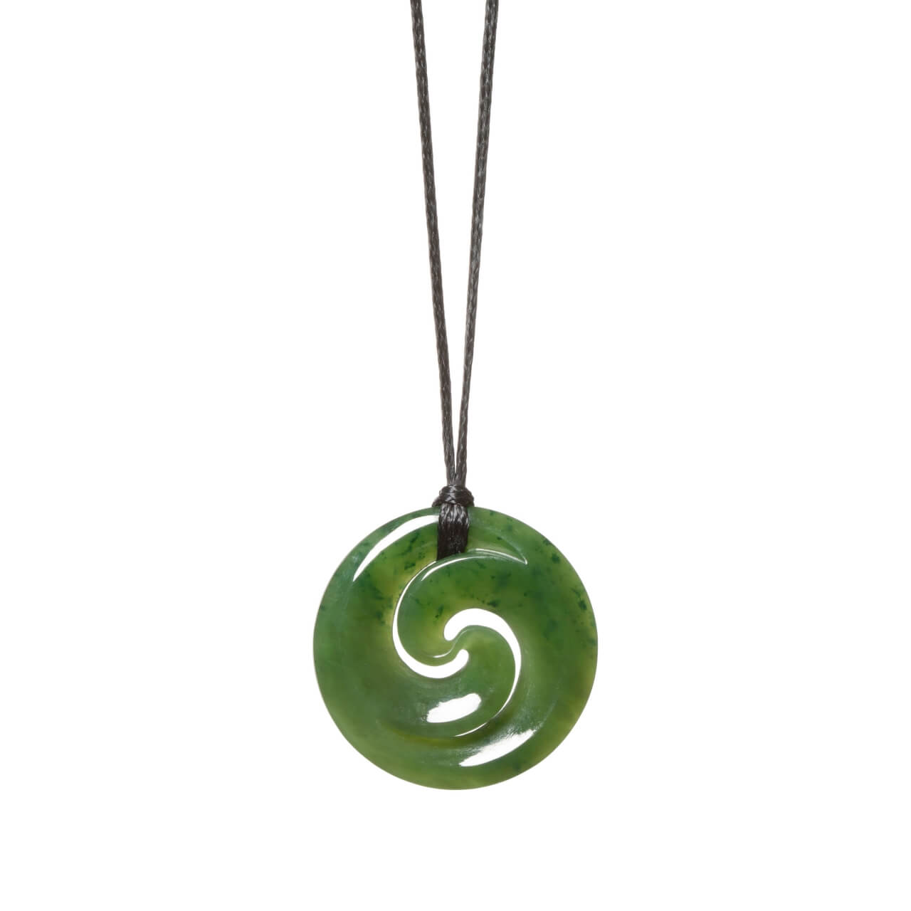 Canadian Jade Double Koru Necklace