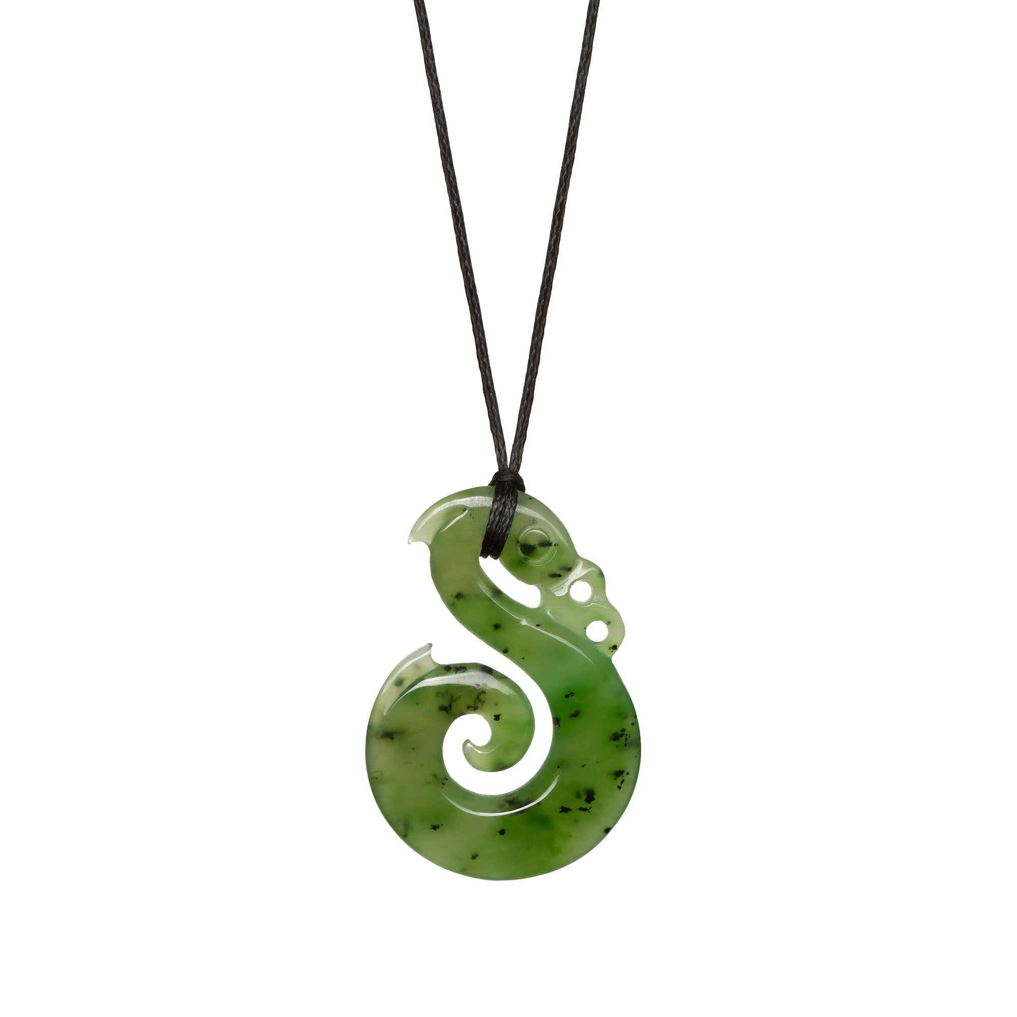 Canadian Jade Koru Manaia Necklace