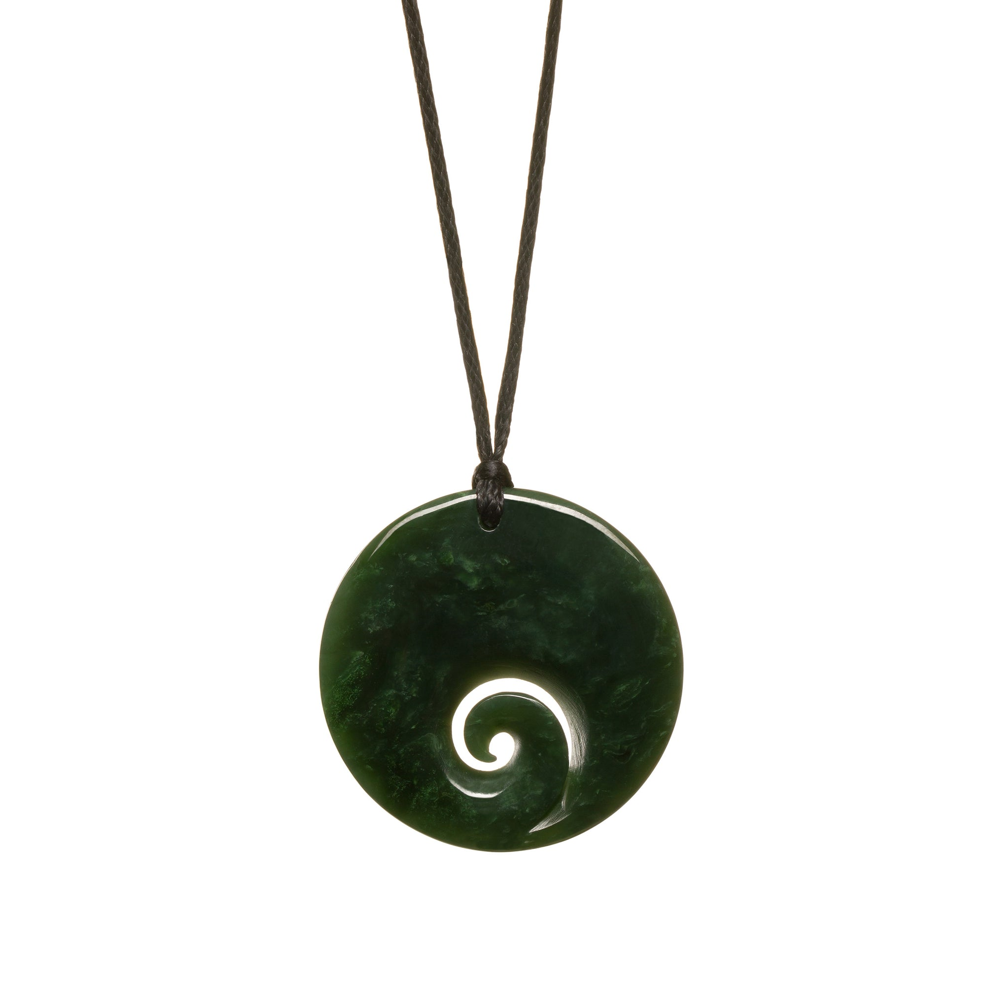 Canadian Jade Closed Koru Necklace