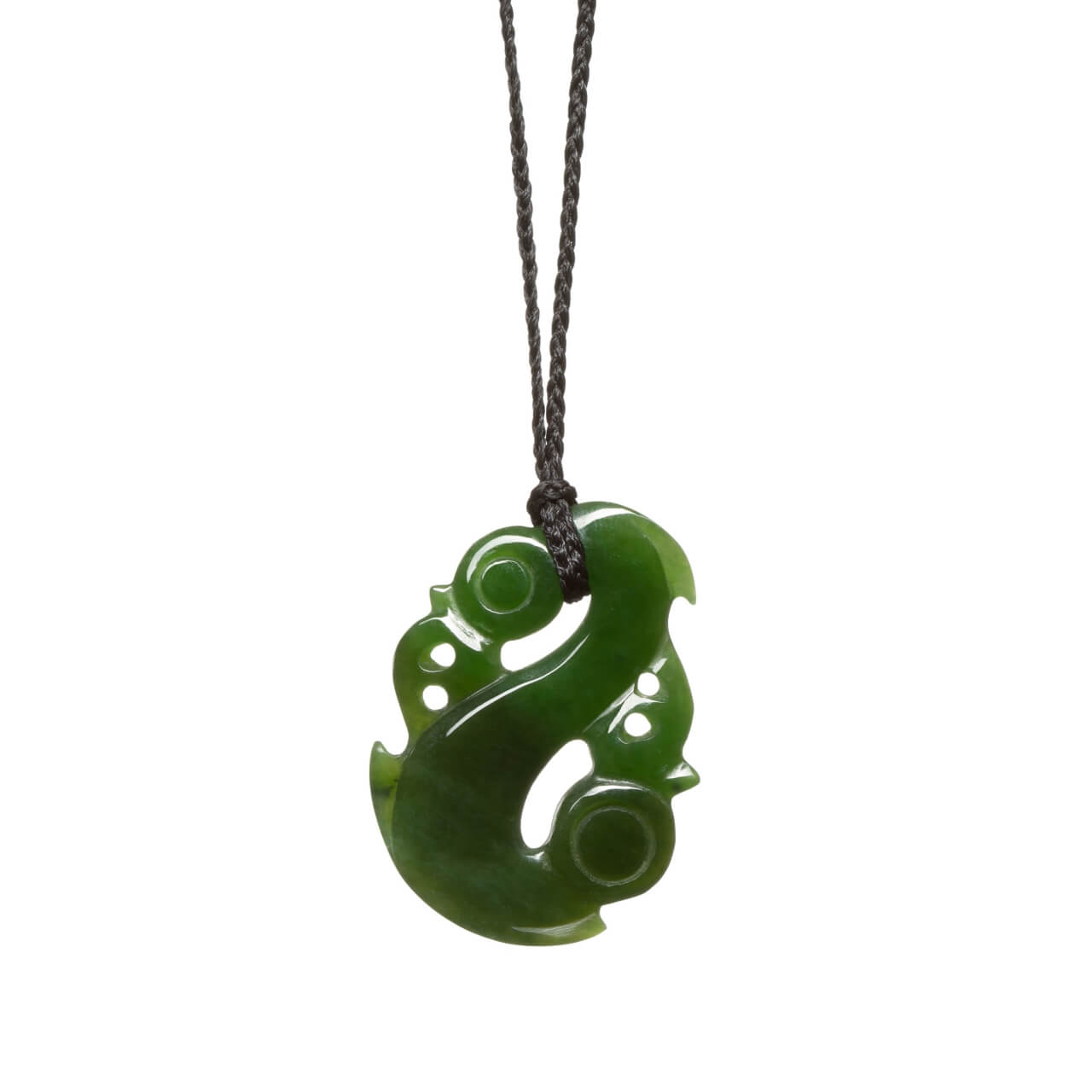 Canadian Jade Medium Manaia Necklace