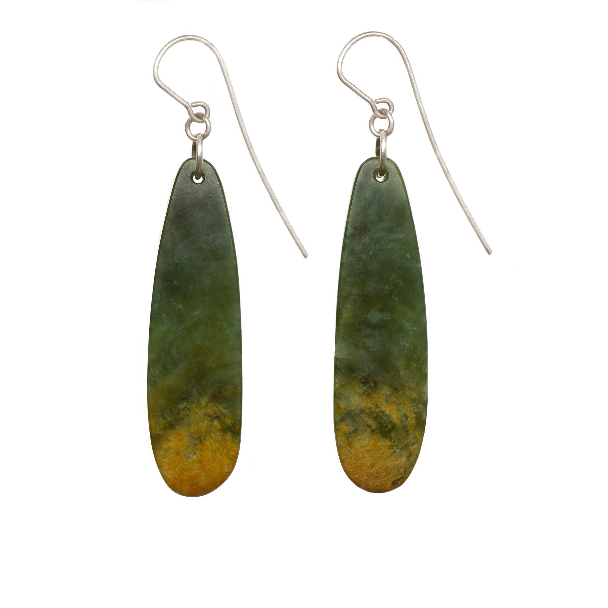 New Zealand Flower Jade Roimata Earrings