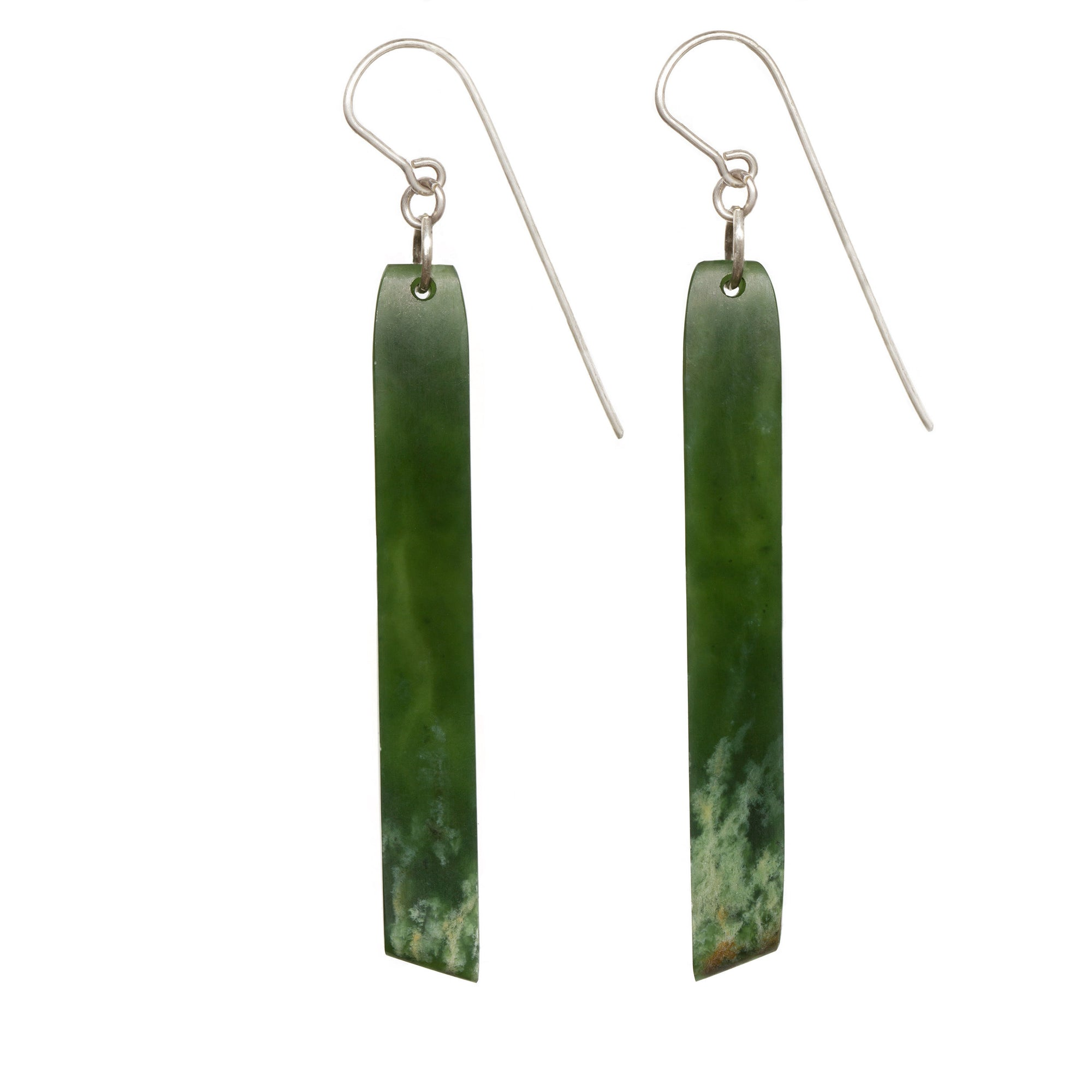 New Zealand Flower Jade Drop Earrings