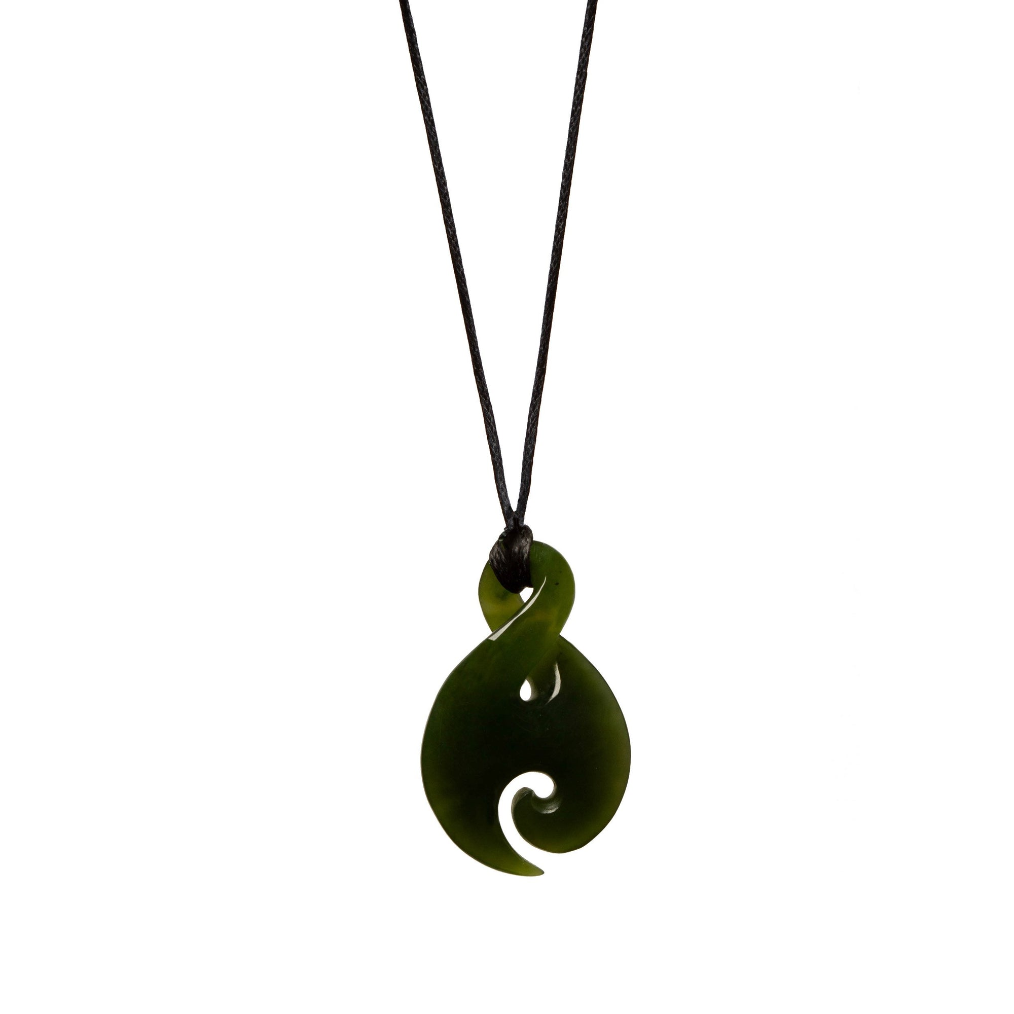 Canadian Jade Small Koru Twist Necklace