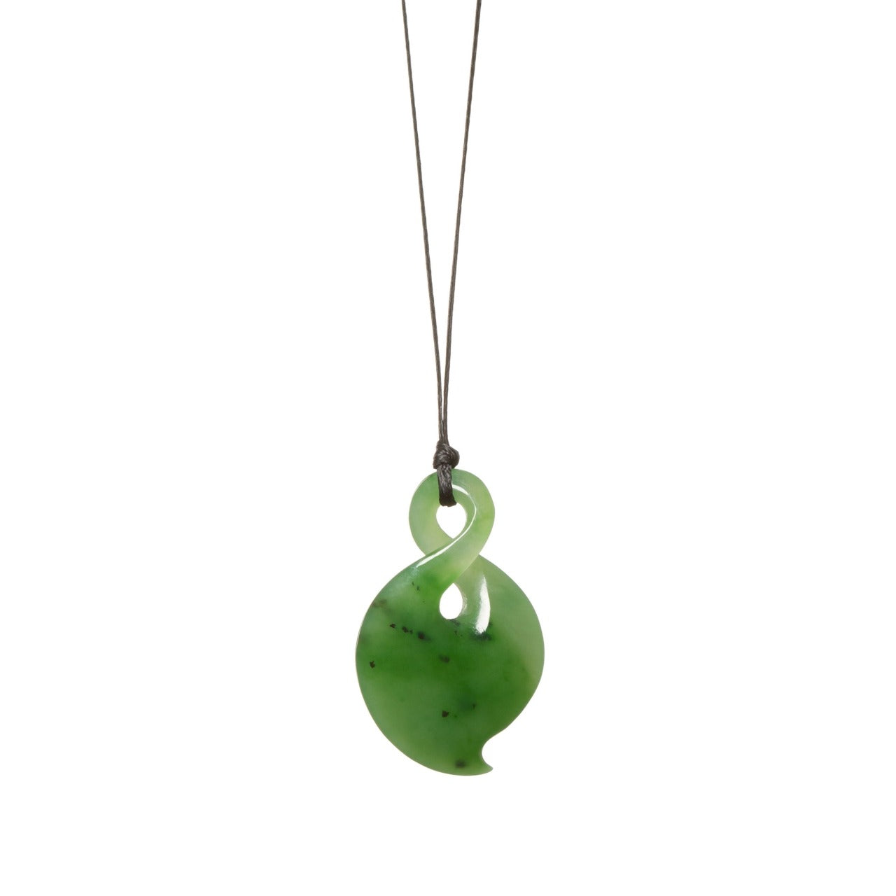 Canadian Jade Single Pointed Twist Necklace