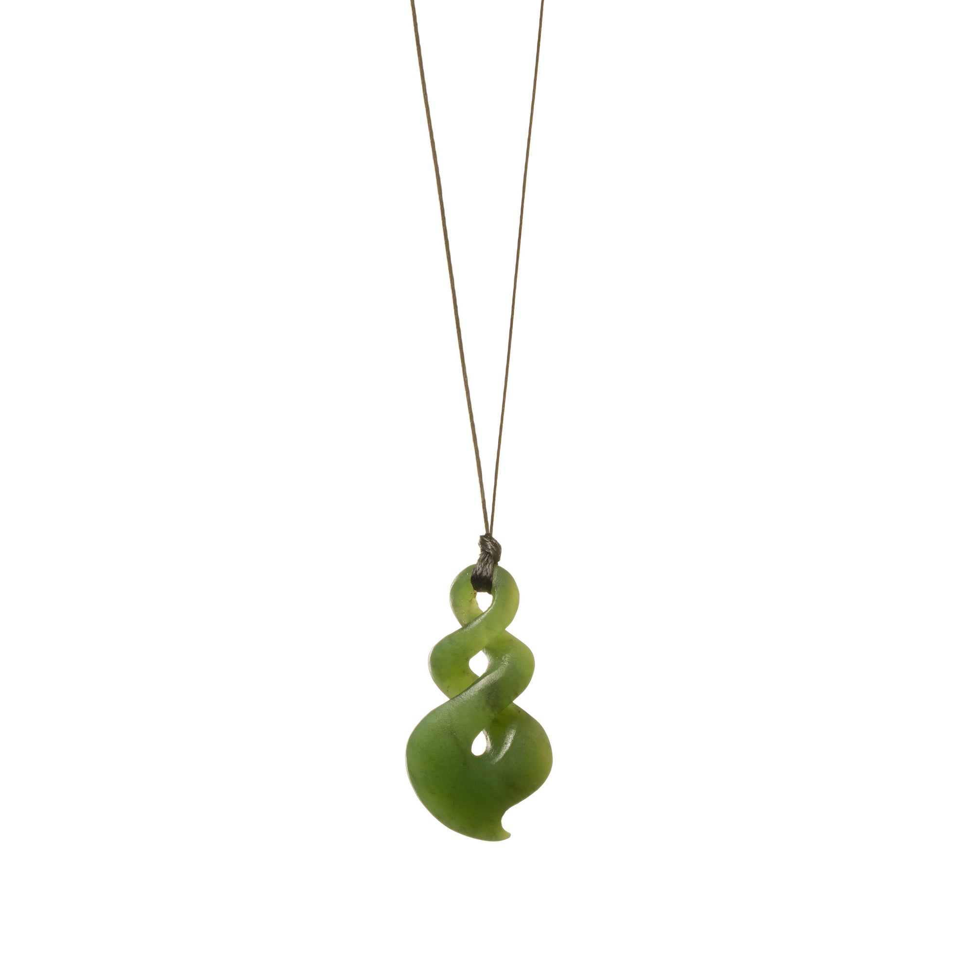 Canadian Jade Small Matte Twist Necklace