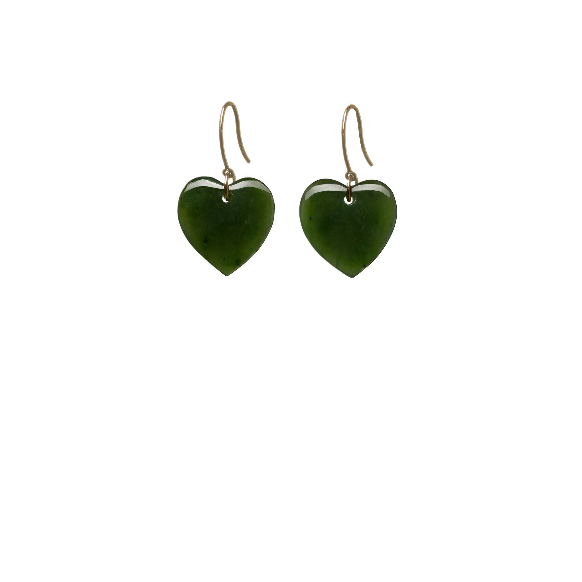 Canadian Jade Heart Earrings
