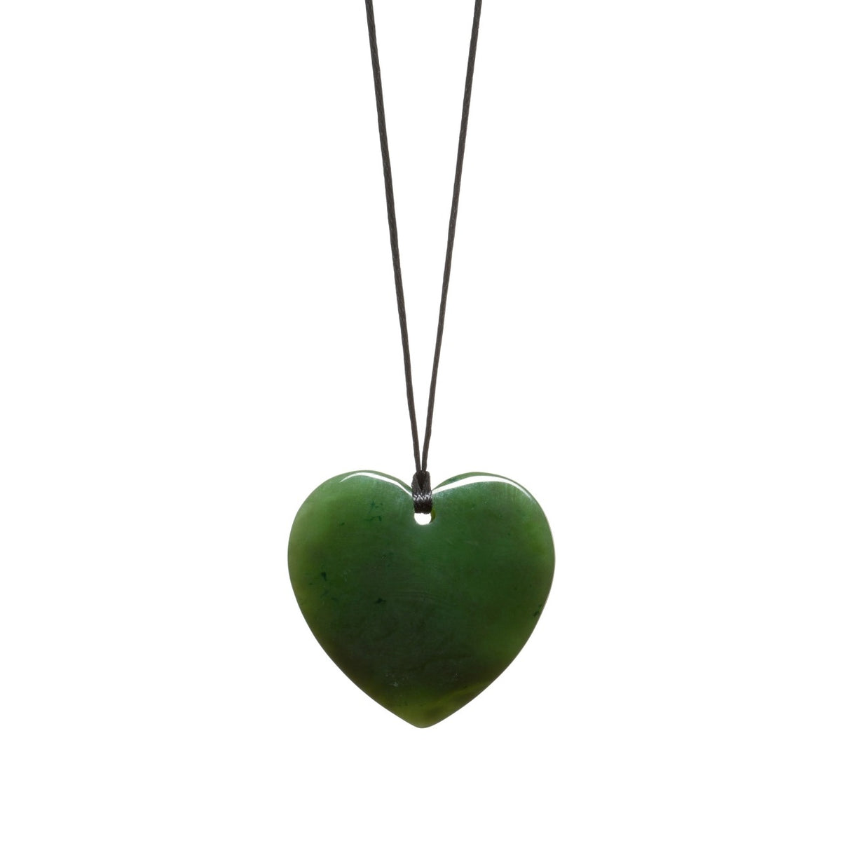 Assorted Jades Polished Heart Necklace