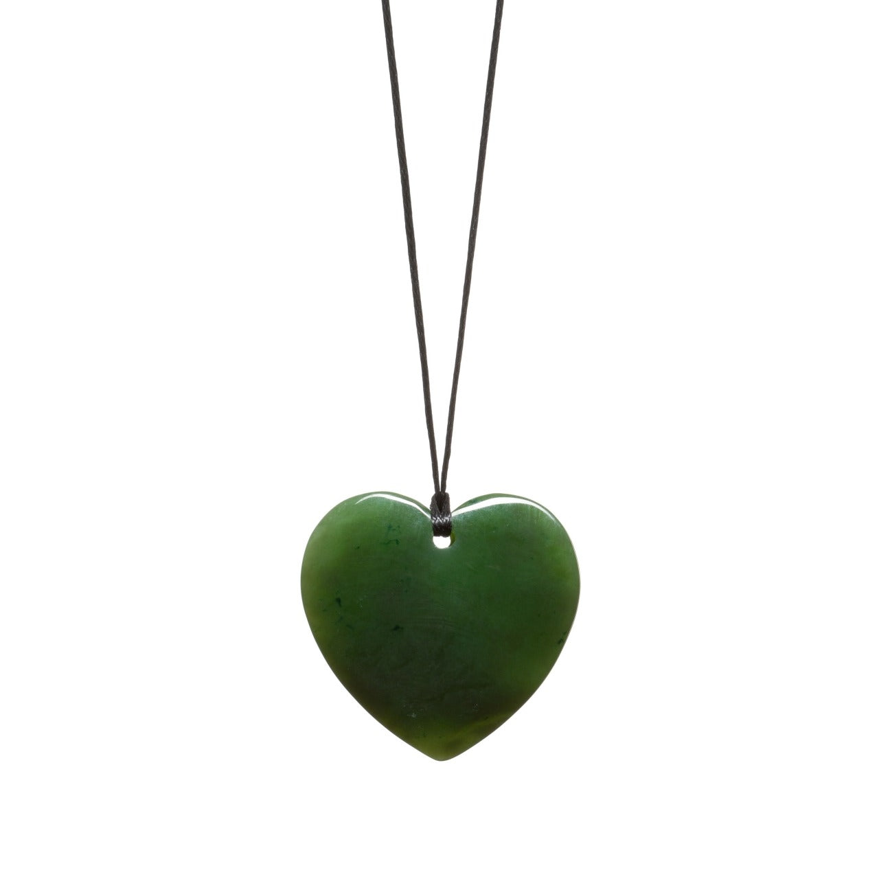 Canadian Jade Polished Heart Necklace