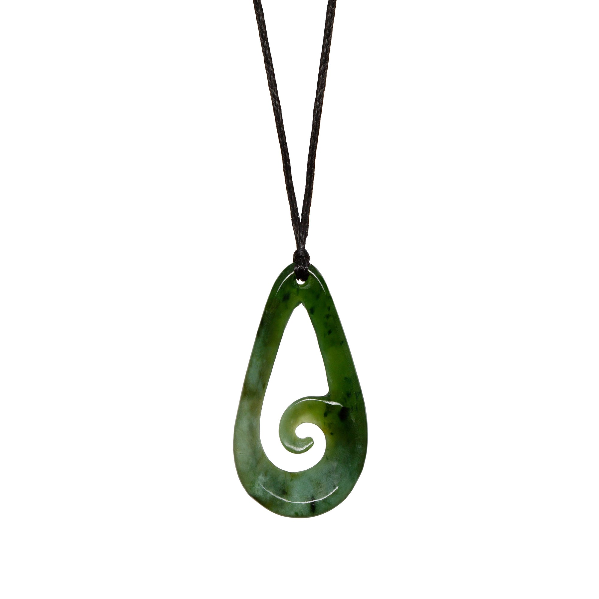 New Zealand Jade Koru Roimata Necklace