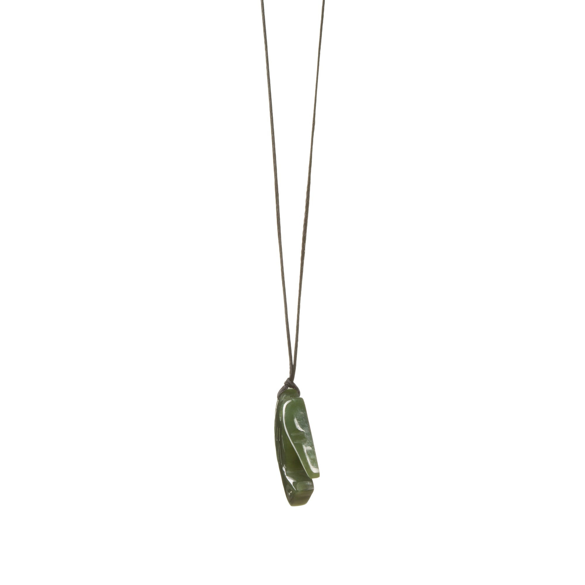 Canadian Jade Kiwi Bird Necklace