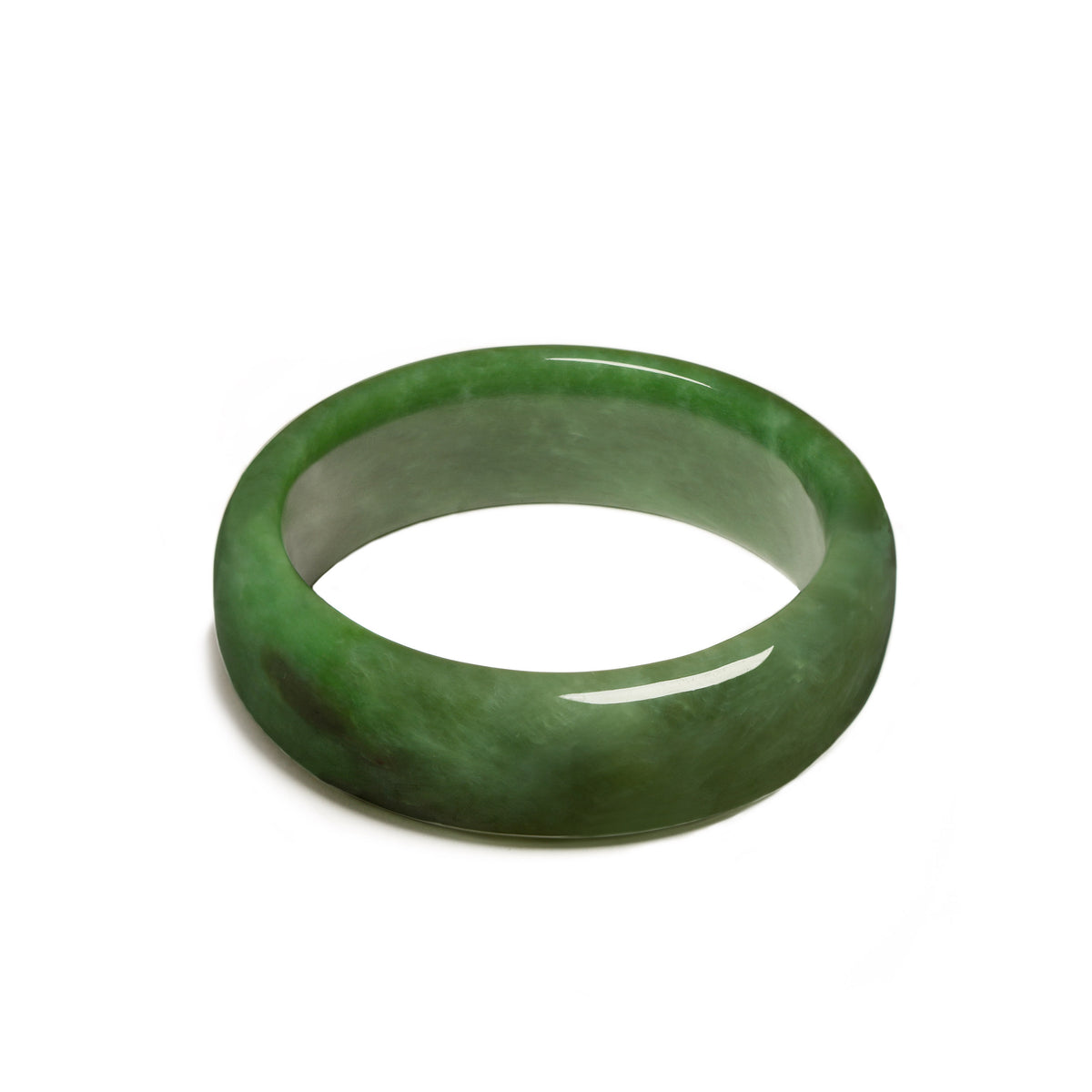 57mm Internal Diameter x 74mm External Diameter / New Zealand Pounamu // JSNRBAN57-RUS