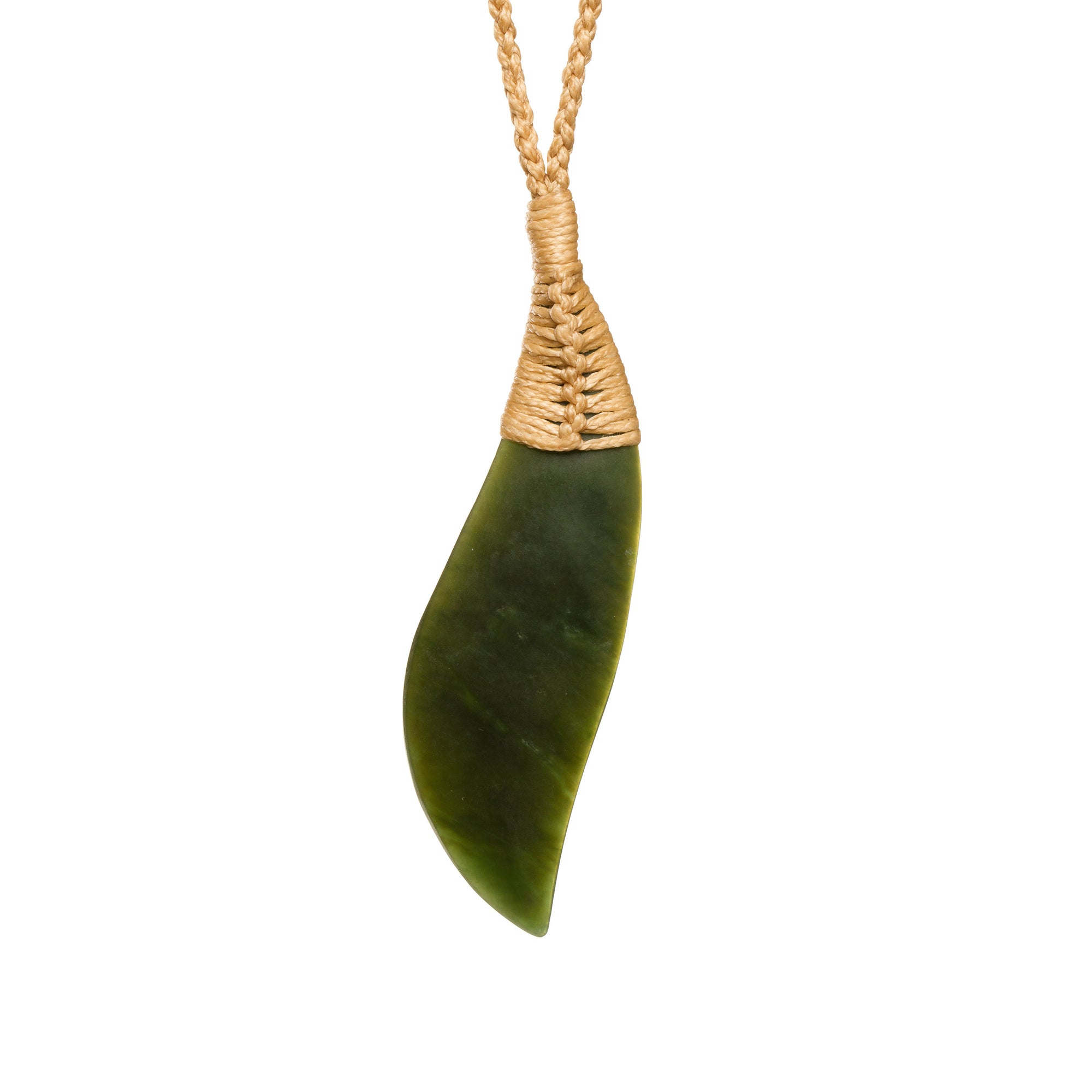 New Zealand Pounamu Lashed Drop Necklace