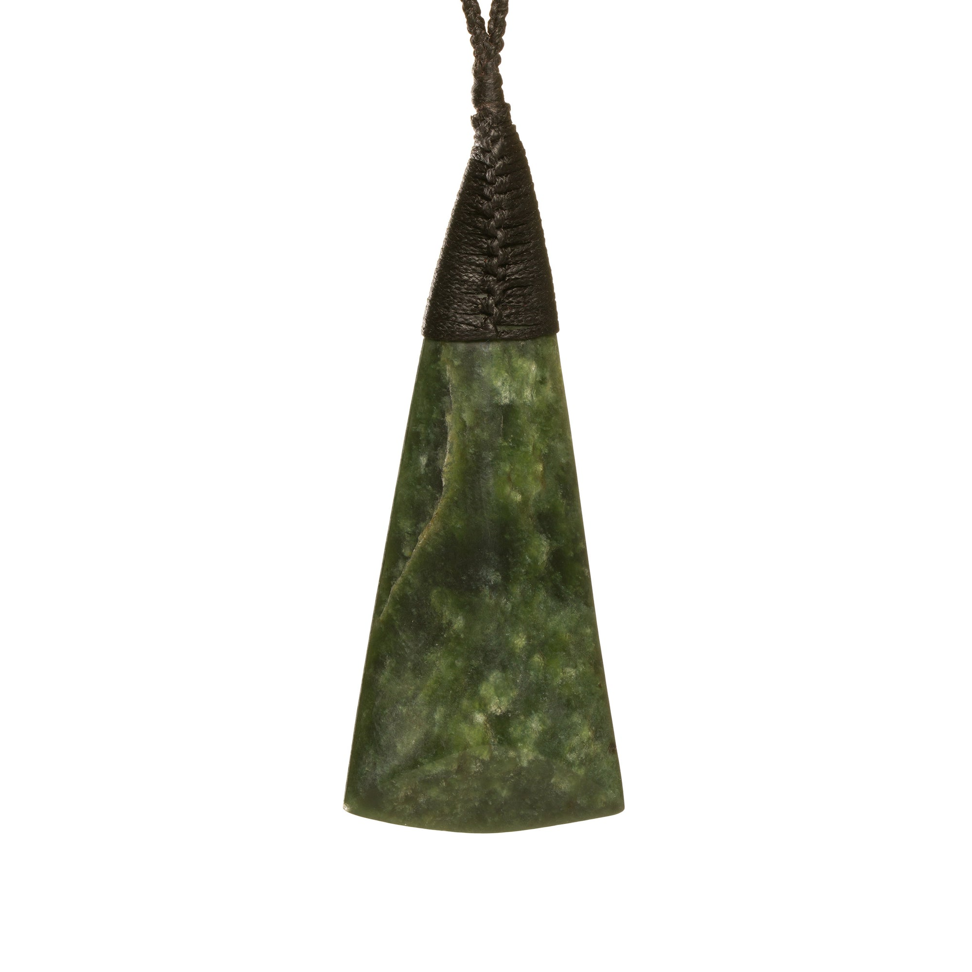 New Zealand Pounamu Wide Flared Toki Necklace