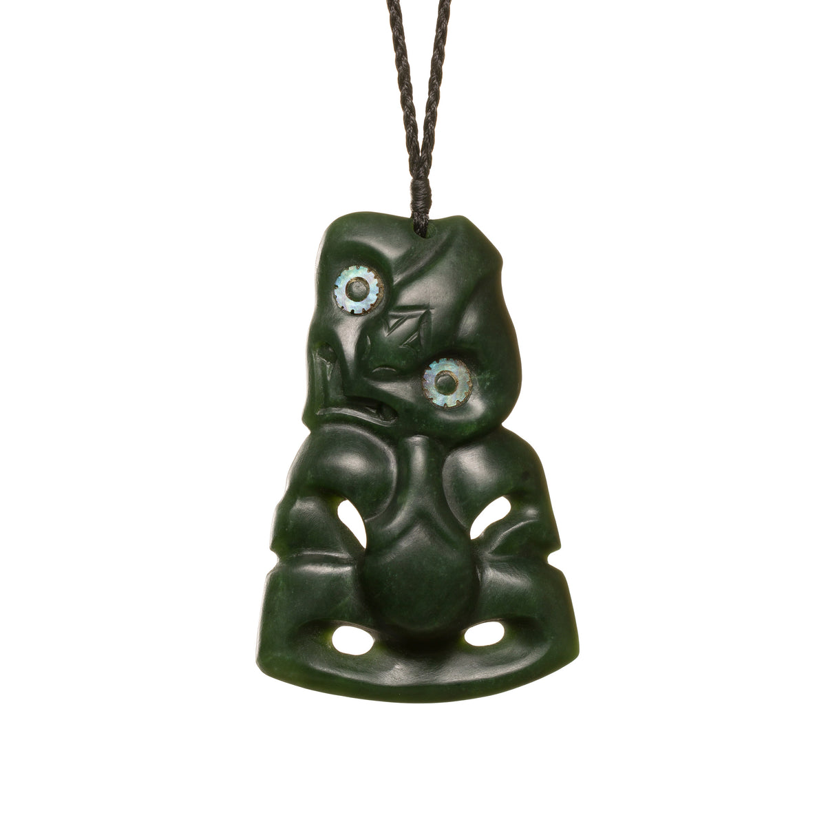 New Zealand Jade Large Hei Tiki Necklace