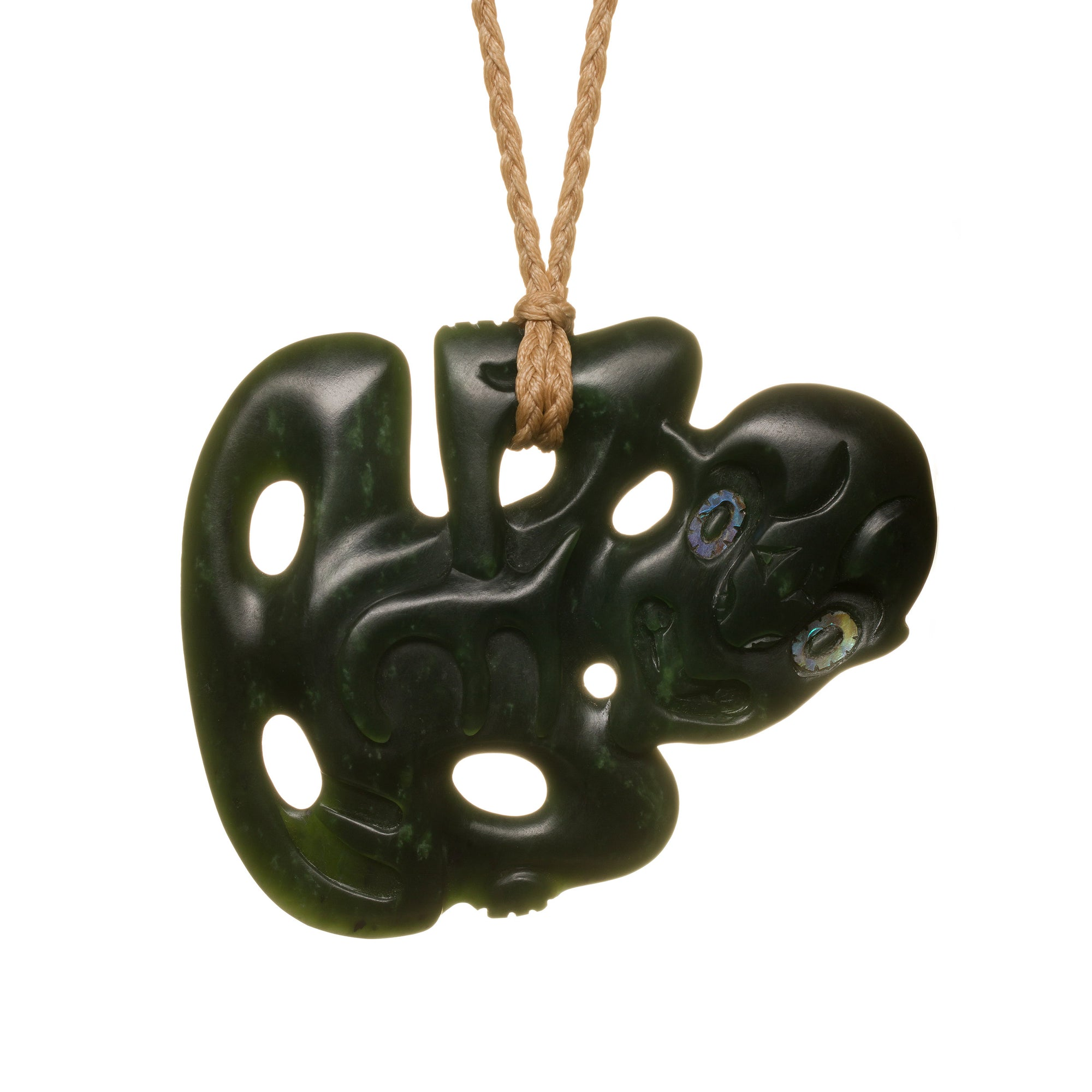 New Zealand Pounamu Dark Green Tiki