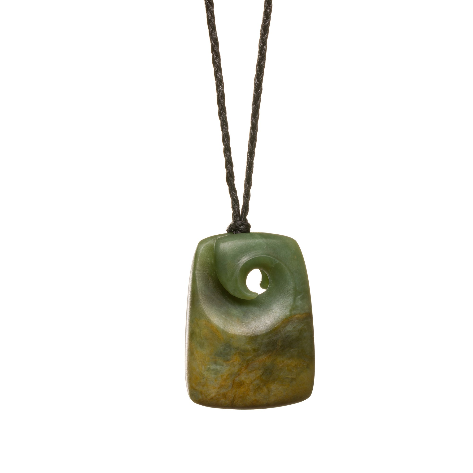 New Zealand Jade Koru Adze Necklace