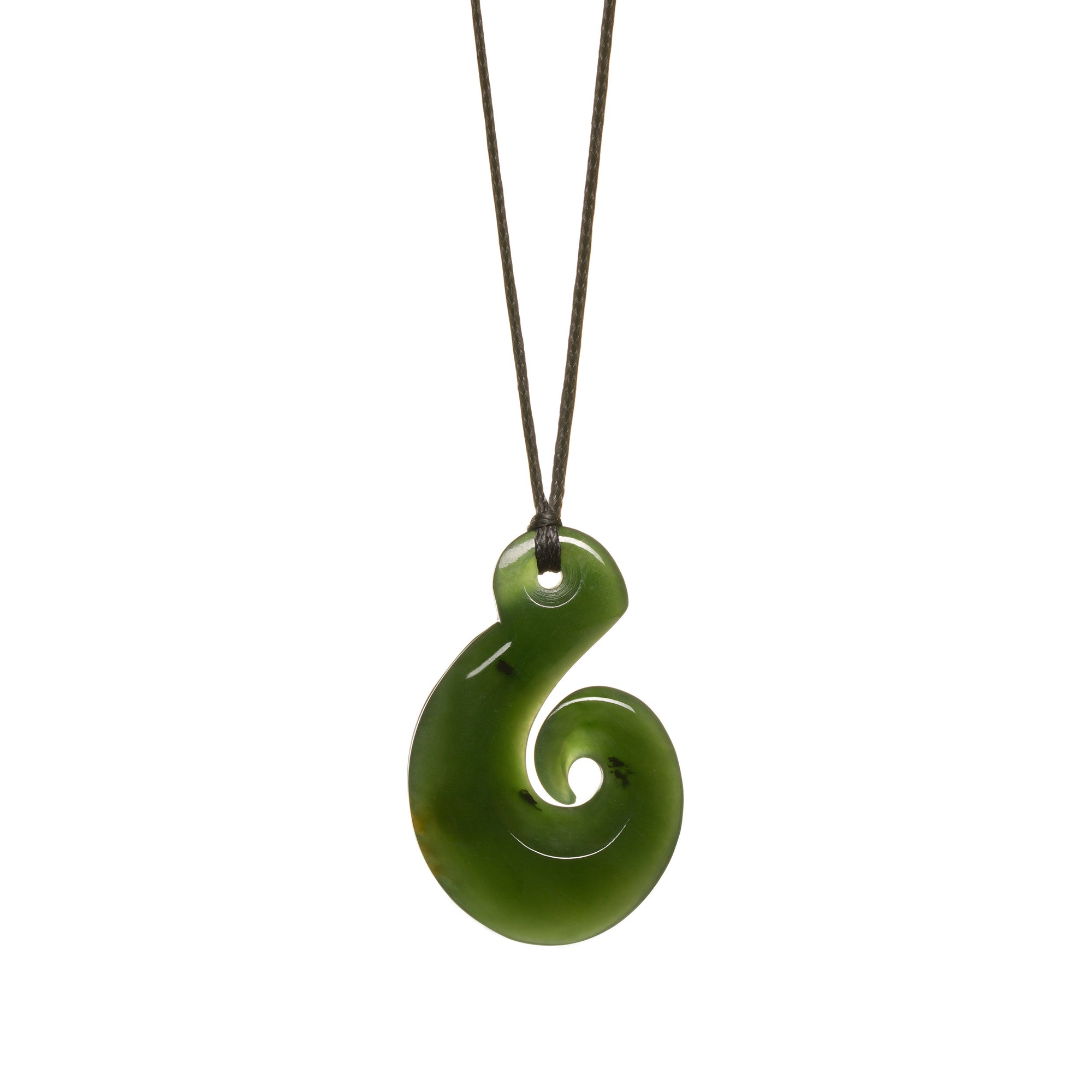 New Zealand Pounamu Curved Hook Necklace