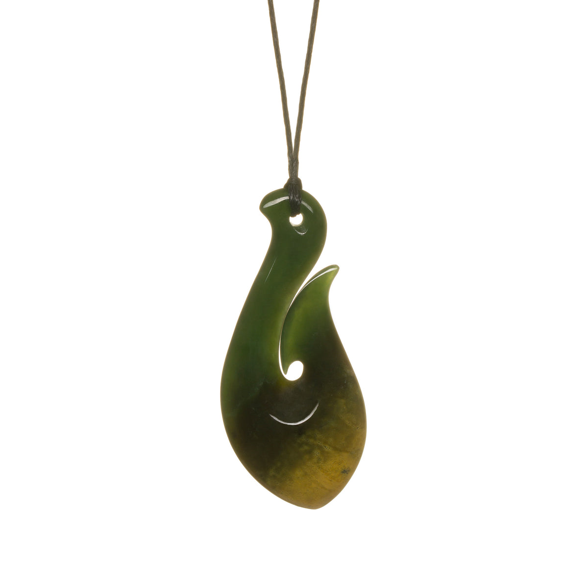 New Zealand Pounamu // LU-HOOKC150-1 / 55mm x 25mm