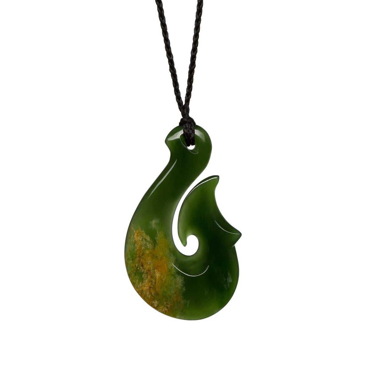 53mm x 32mm / New Zealand Pounamu // LUHOOK648P-1