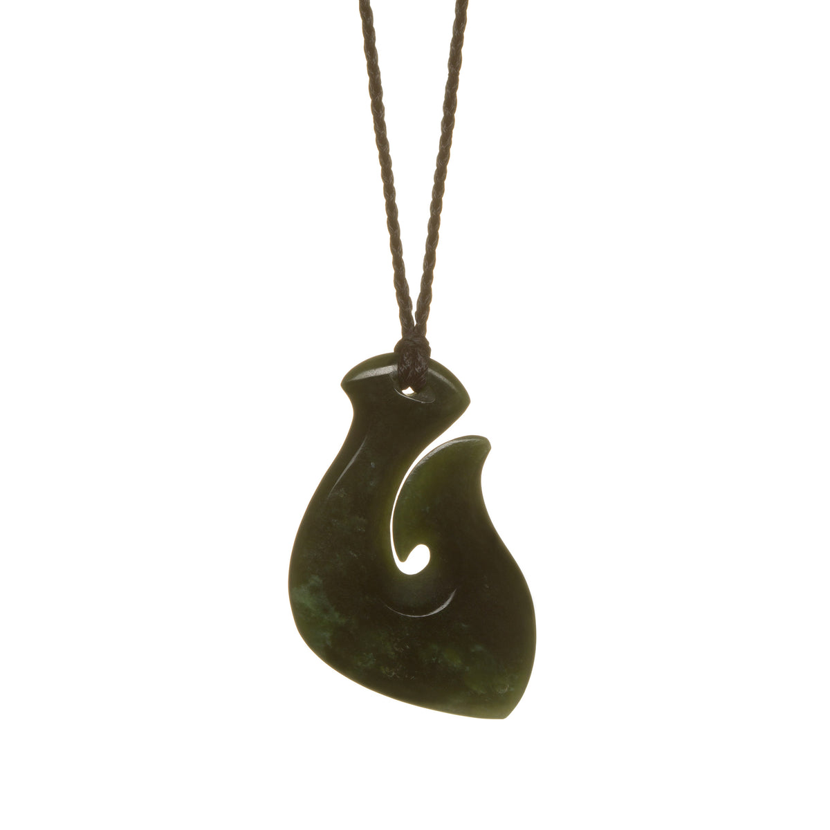 New Zealand Pounamu // LUHOOK268P-A / 44mm x 30mm