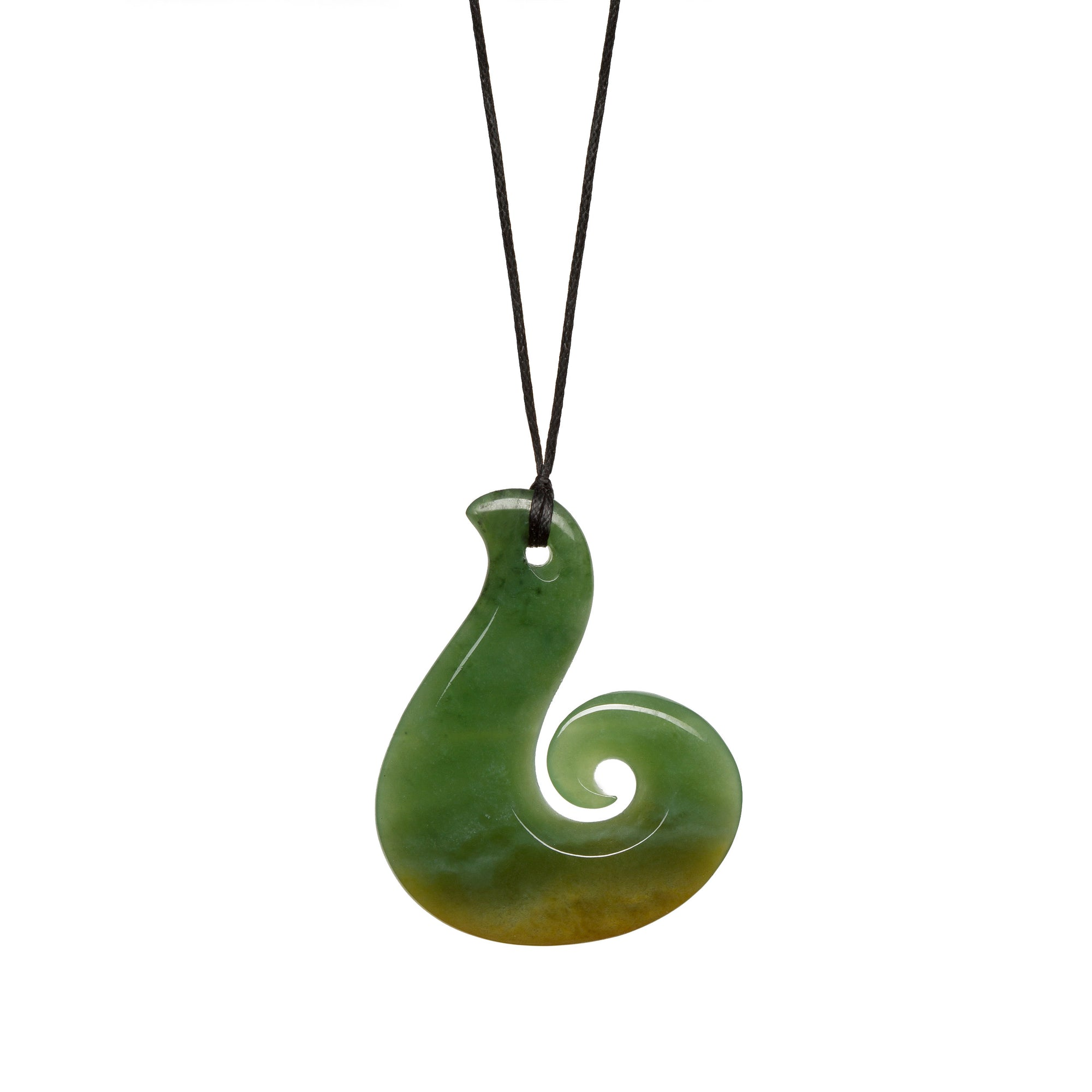 New Zealand Flower Jade Koru Hook