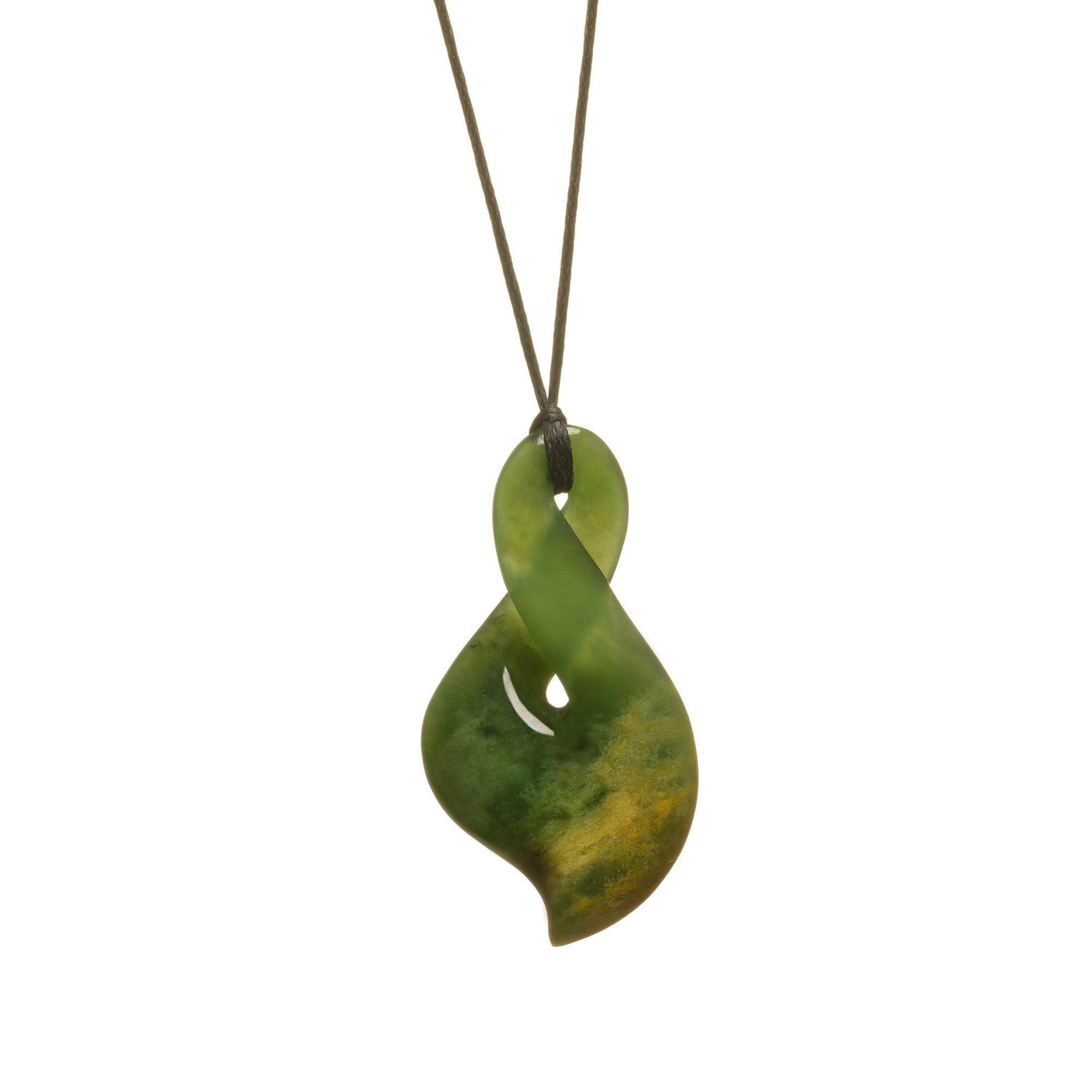 New Zealand Flower Jade Slender Infinity Necklace