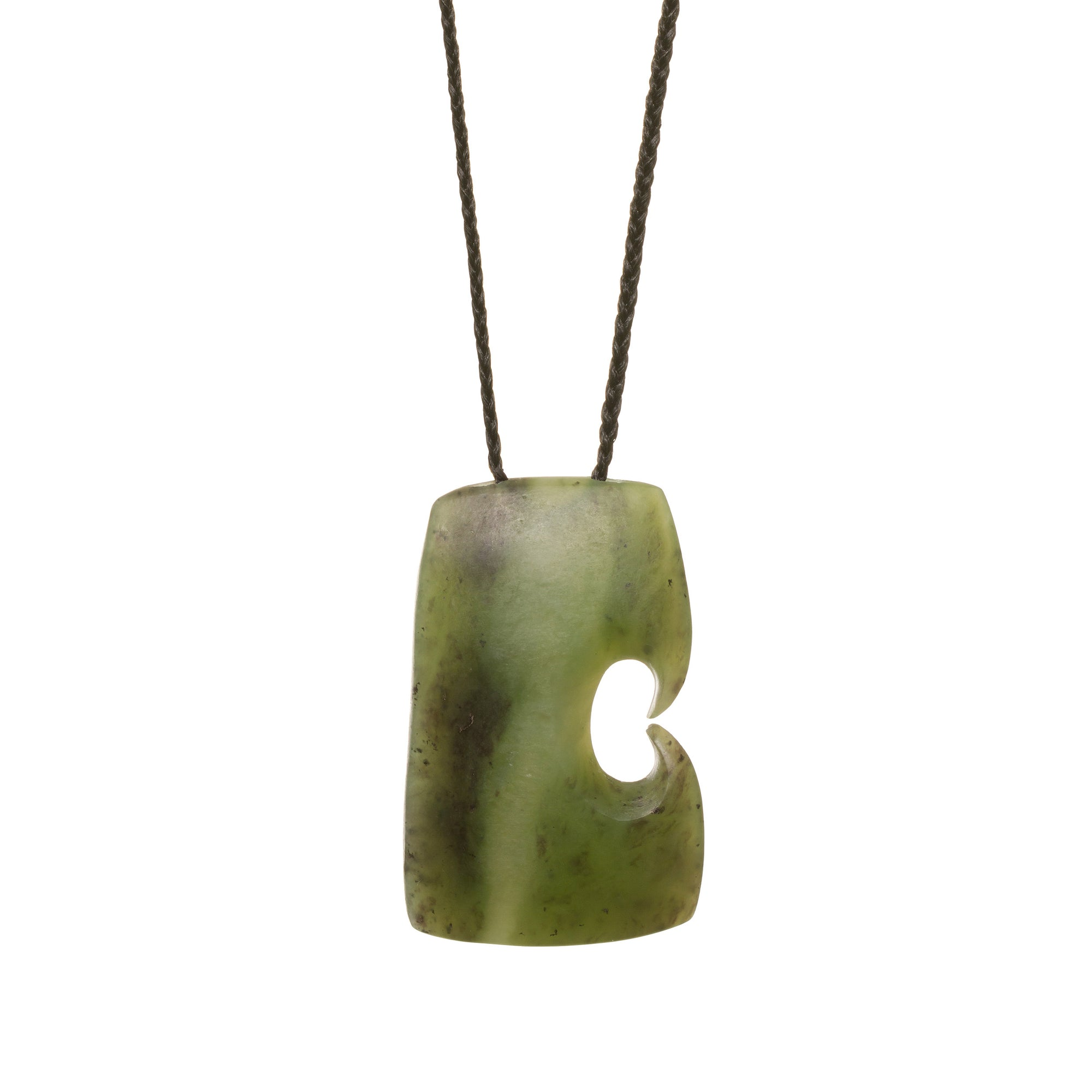 New Zealand Jade Koru Toki Necklace