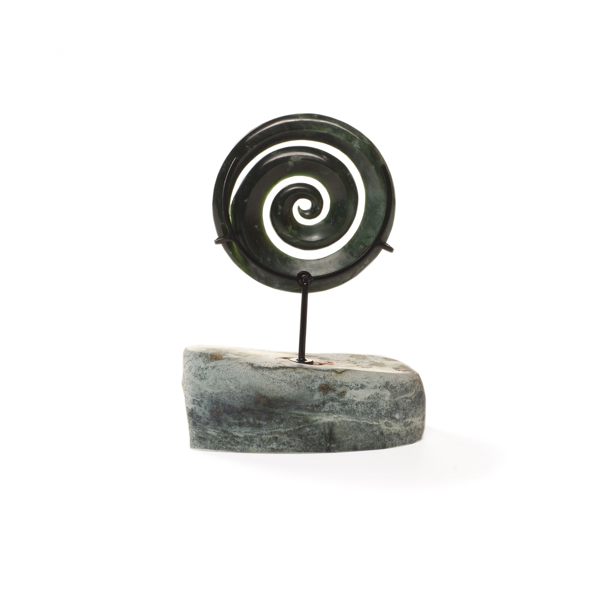 New Zealand Greenstone Spiral Sculpture