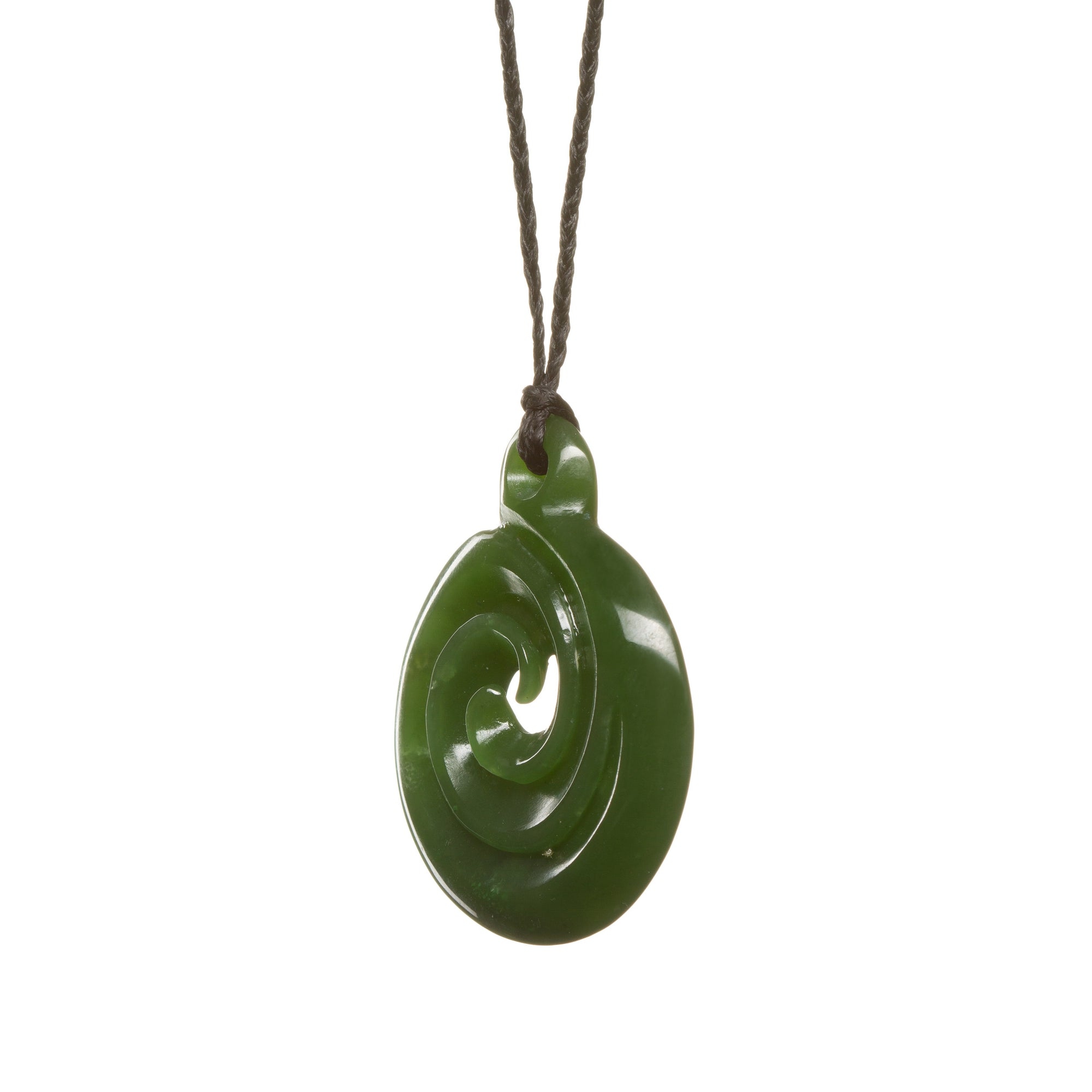 New Zealand Flower Jade Koru Necklace