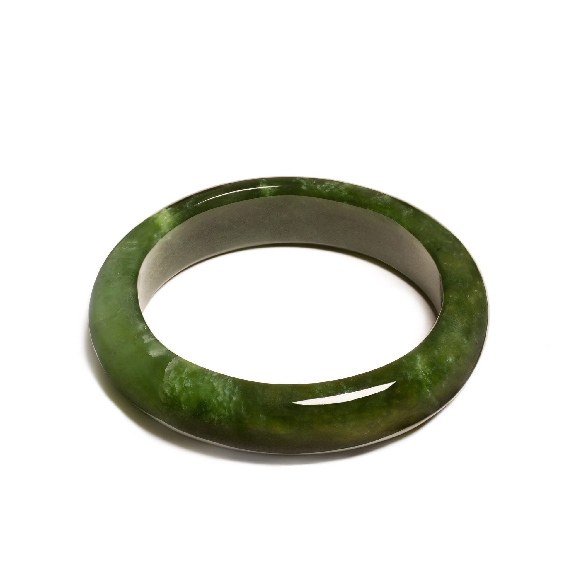 New Zealand Pounamu Dark Bangle (60mm)