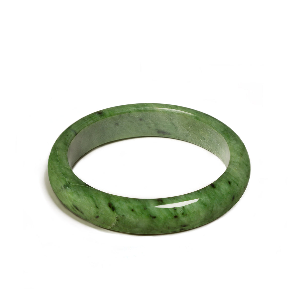 New Zealand Greenstone Light Jade Bangle (63mm)
