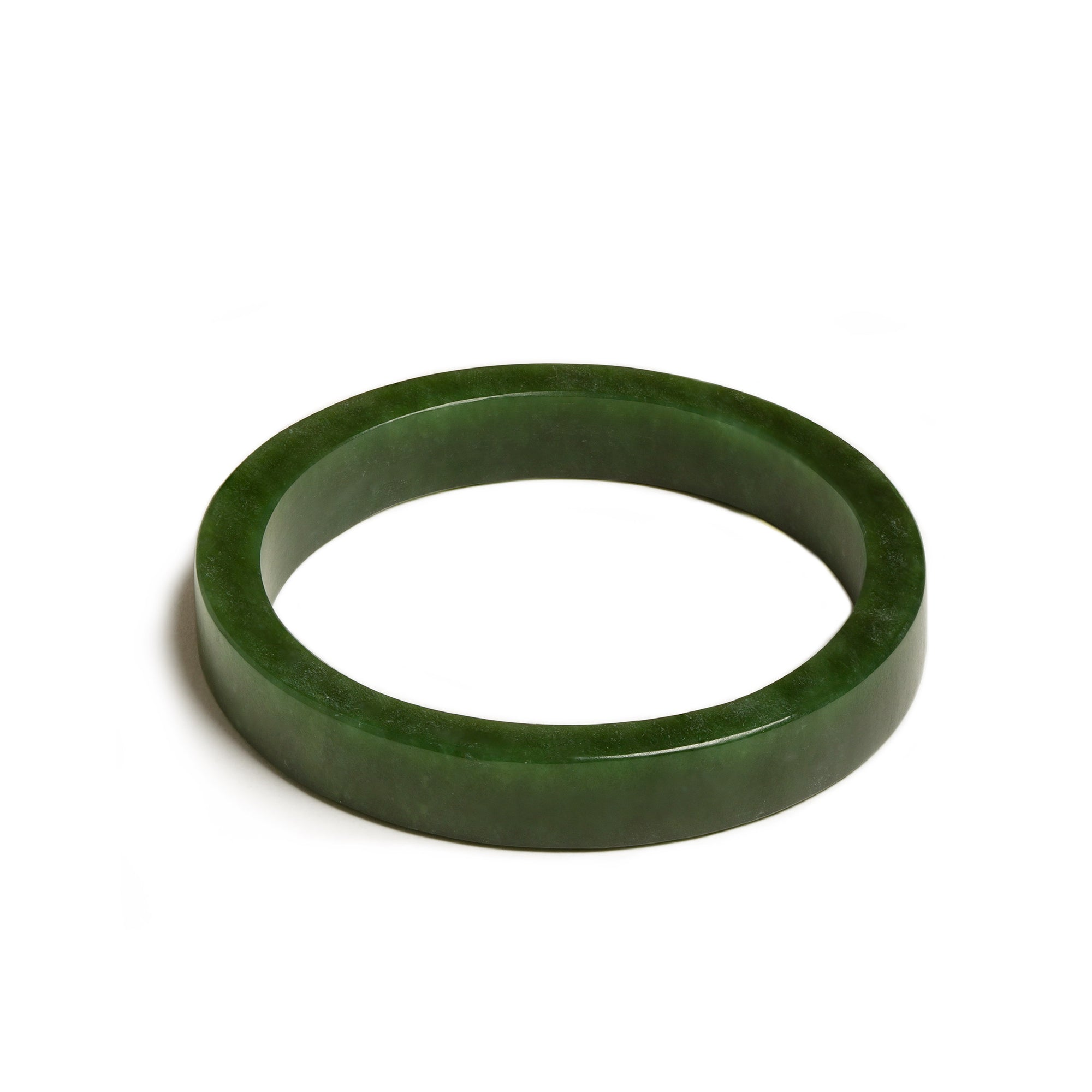 New Zealand Jade Matte Finished Contemporary Bangle (66mm)