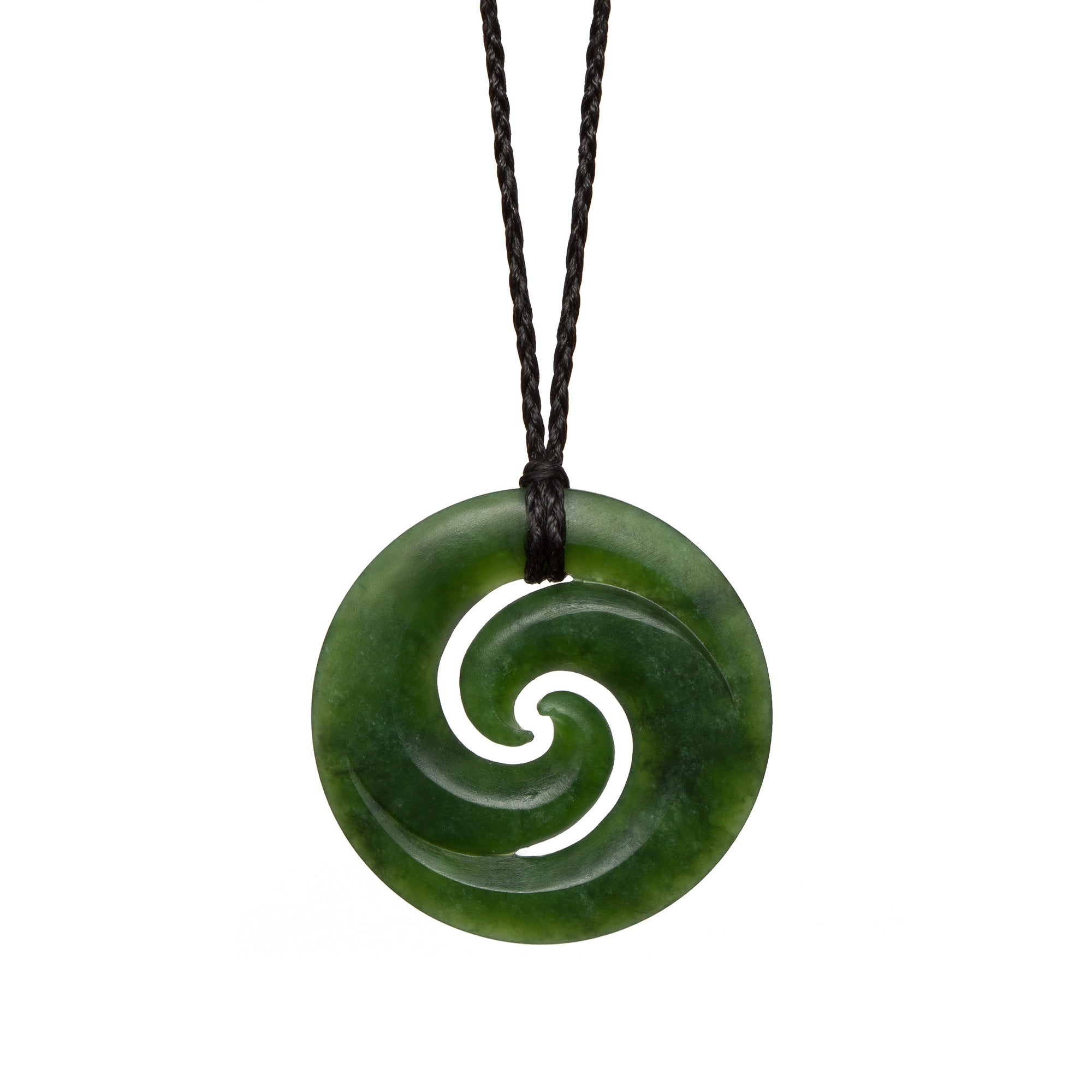New Zealand Pounamu Double Koru Necklace