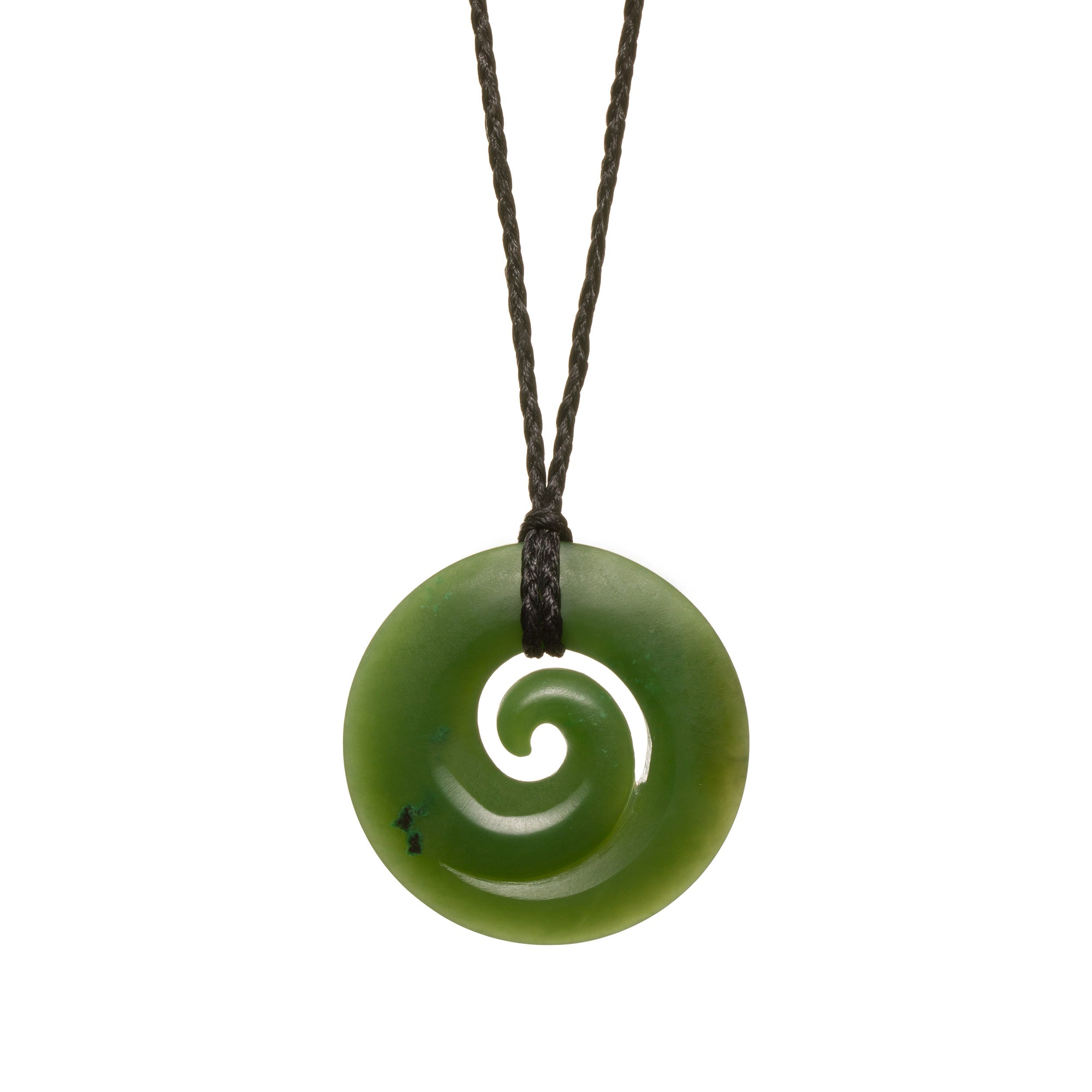 Canadian Jade Closed Spiral Closed Koru Necklace