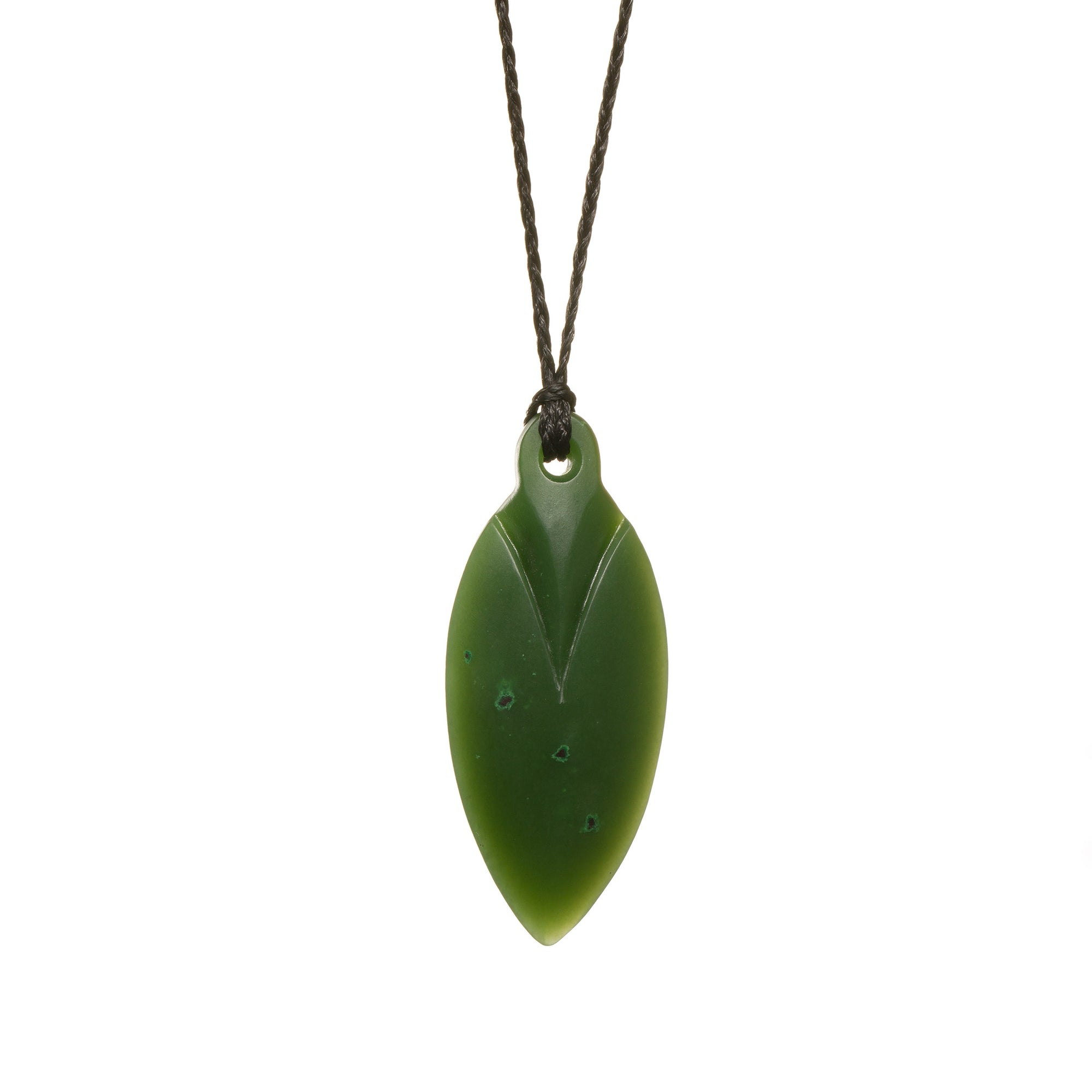 Canadian Jade Pointed Drop Necklace