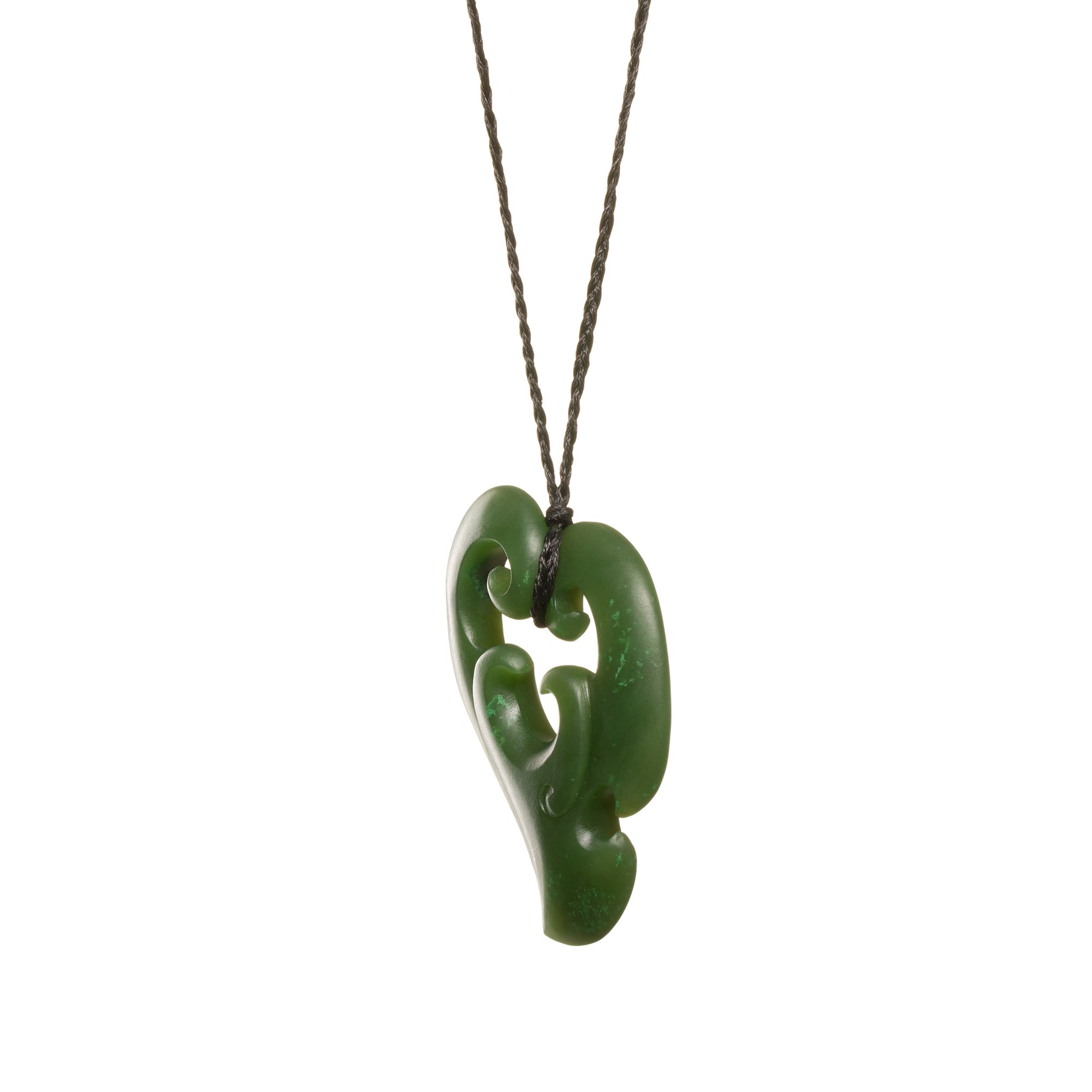 Canadian Jade Koru Heart Necklace