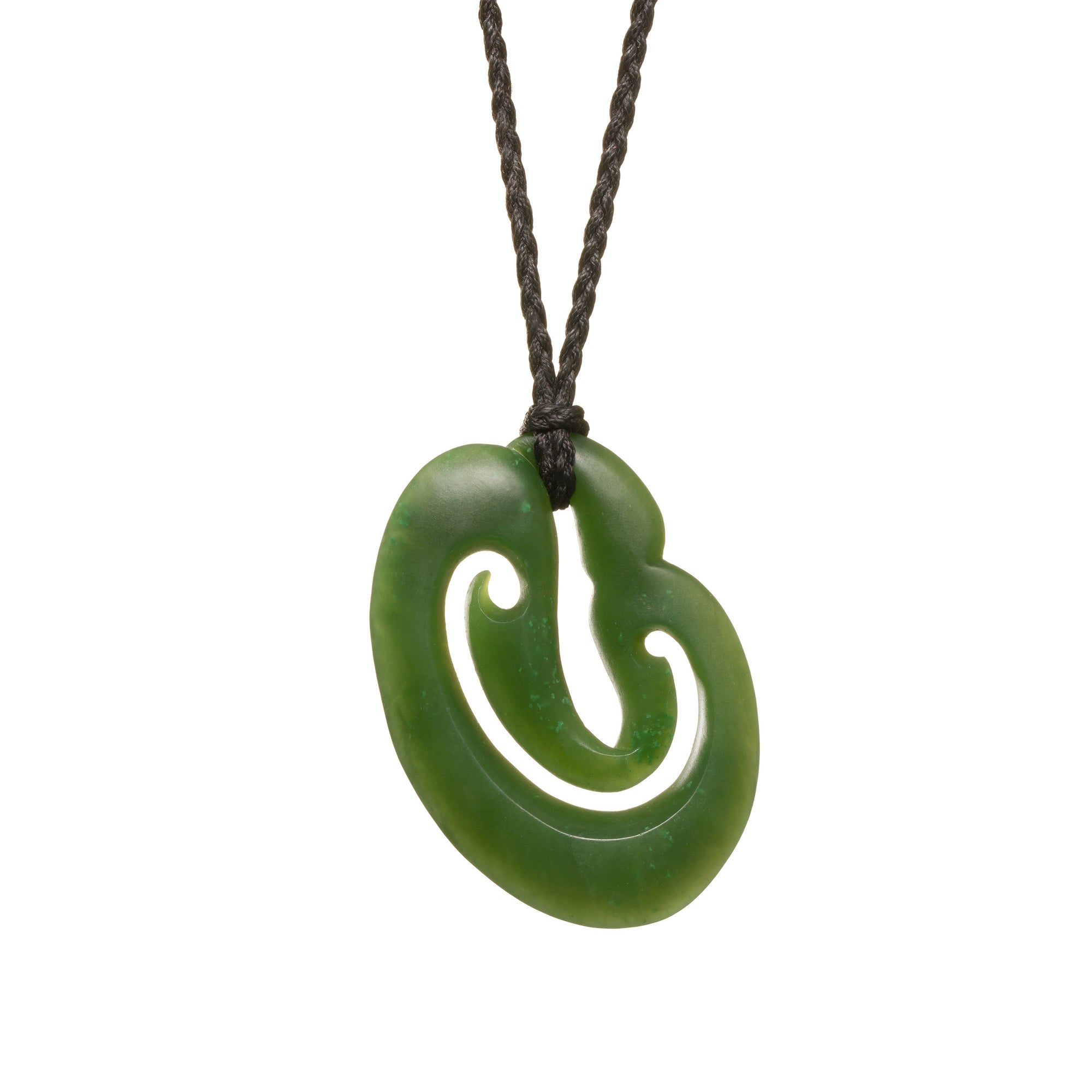 Canadian Jade Stylized Whale Tail Necklace