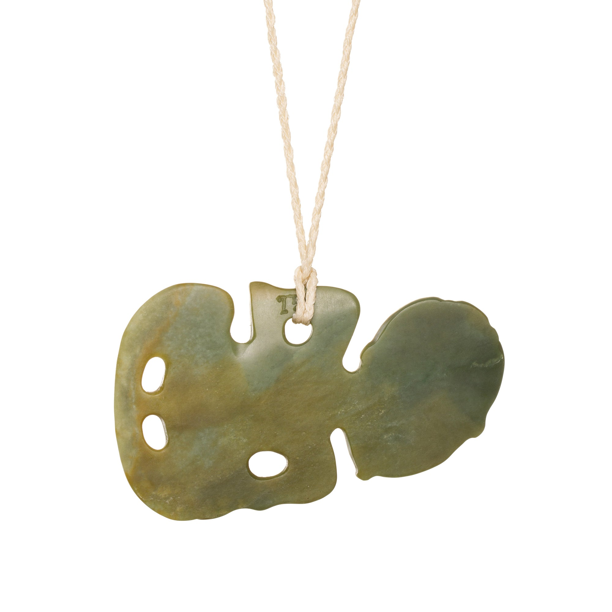 New Zealand Pounamu Large Hei Tiki Necklace