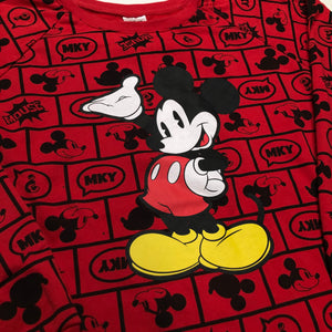 All Over Printed Retro Mickey Mouse Crewneck (S)?
