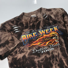 Load image into Gallery viewer, Thrashed & Dyed Daytona Bike Week Tee (S/M)