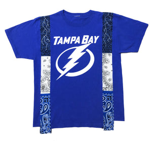 1 of 1 Tampa Bay Lighting Patchworked Tee (L)