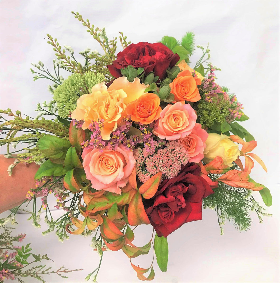 Bridemaid Posy in Warm Tones