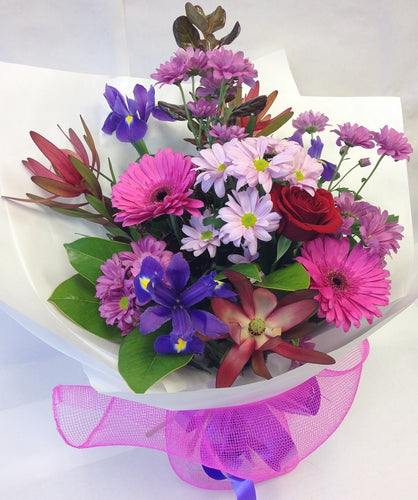 Hand-tied bouquet of winter flowers, get well, hospital, Retirement, Birthday, Girl, Wife, Mothers day,